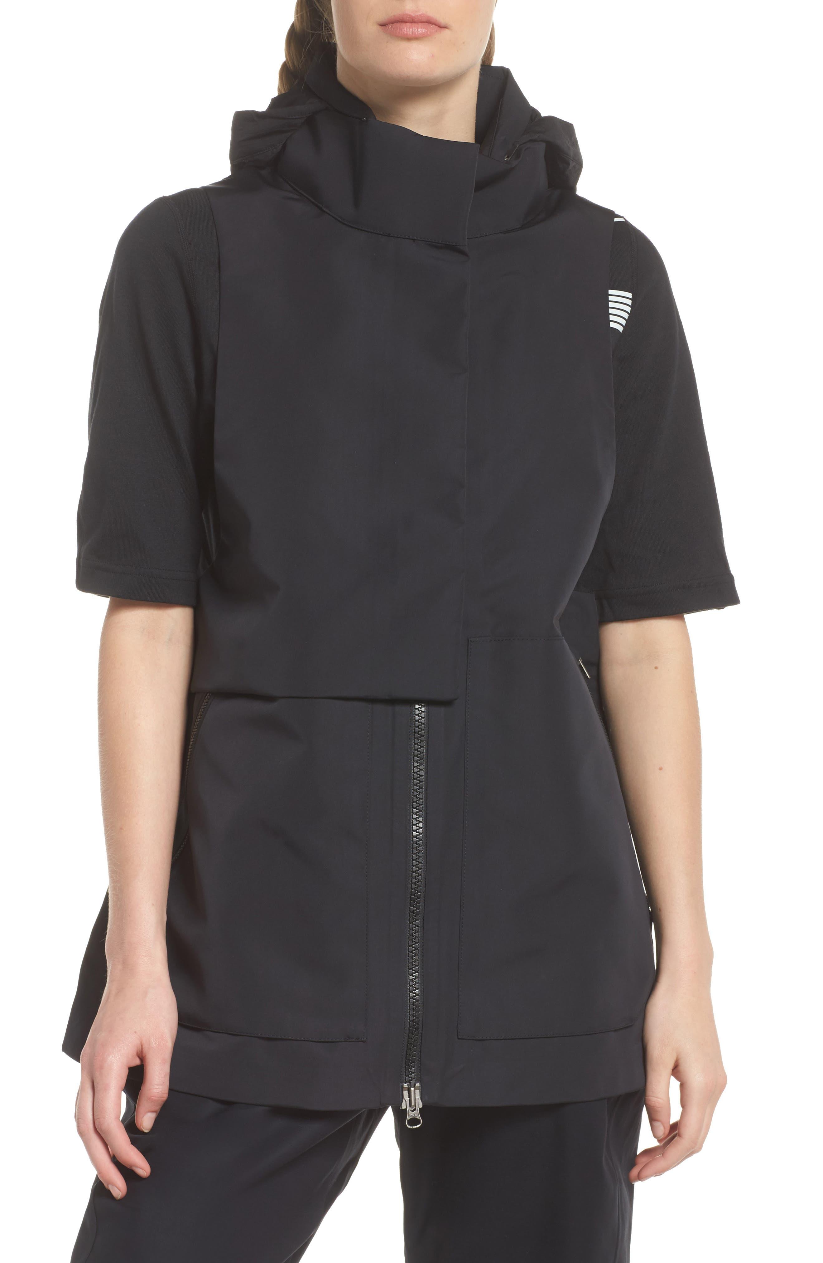 NikeLab ACG Water Repellent Women's Hooded Vest,                             Alternate thumbnail 6, color,                             010