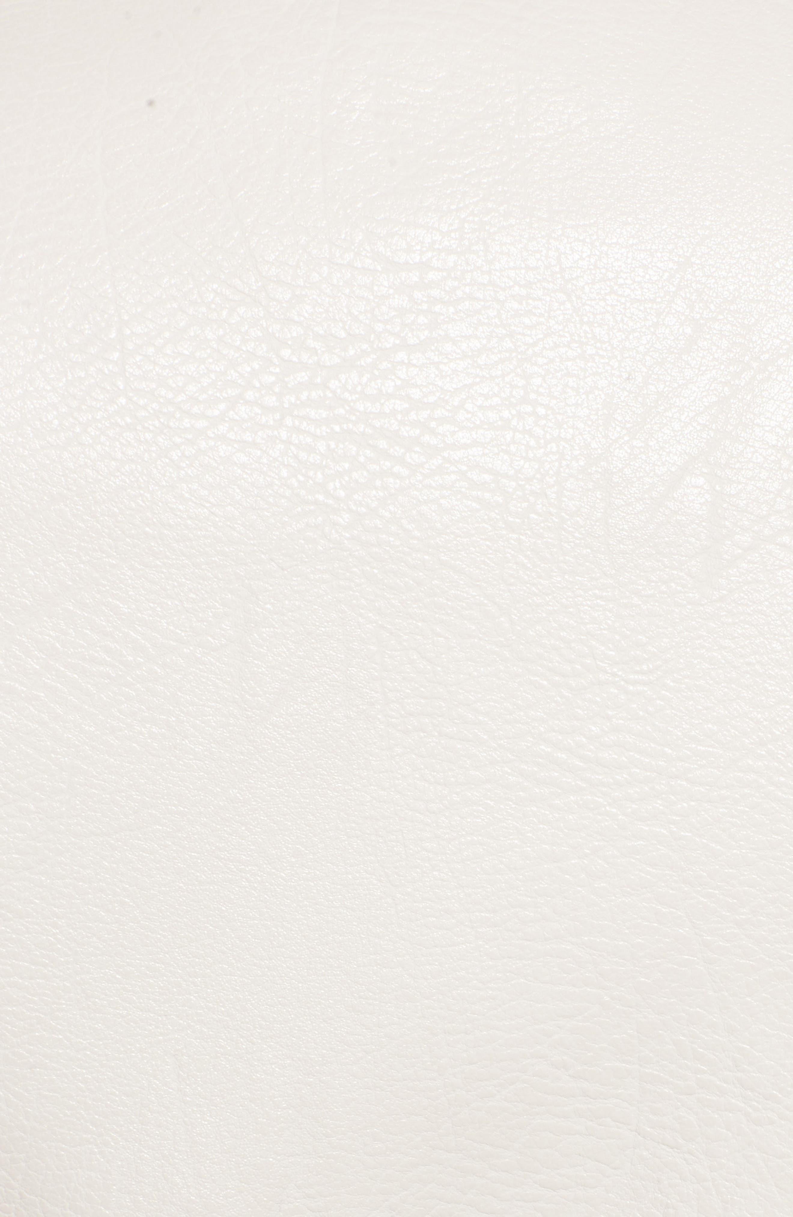Faux Leather Ruffle Hem Moto Jacket,                             Alternate thumbnail 6, color,                             250