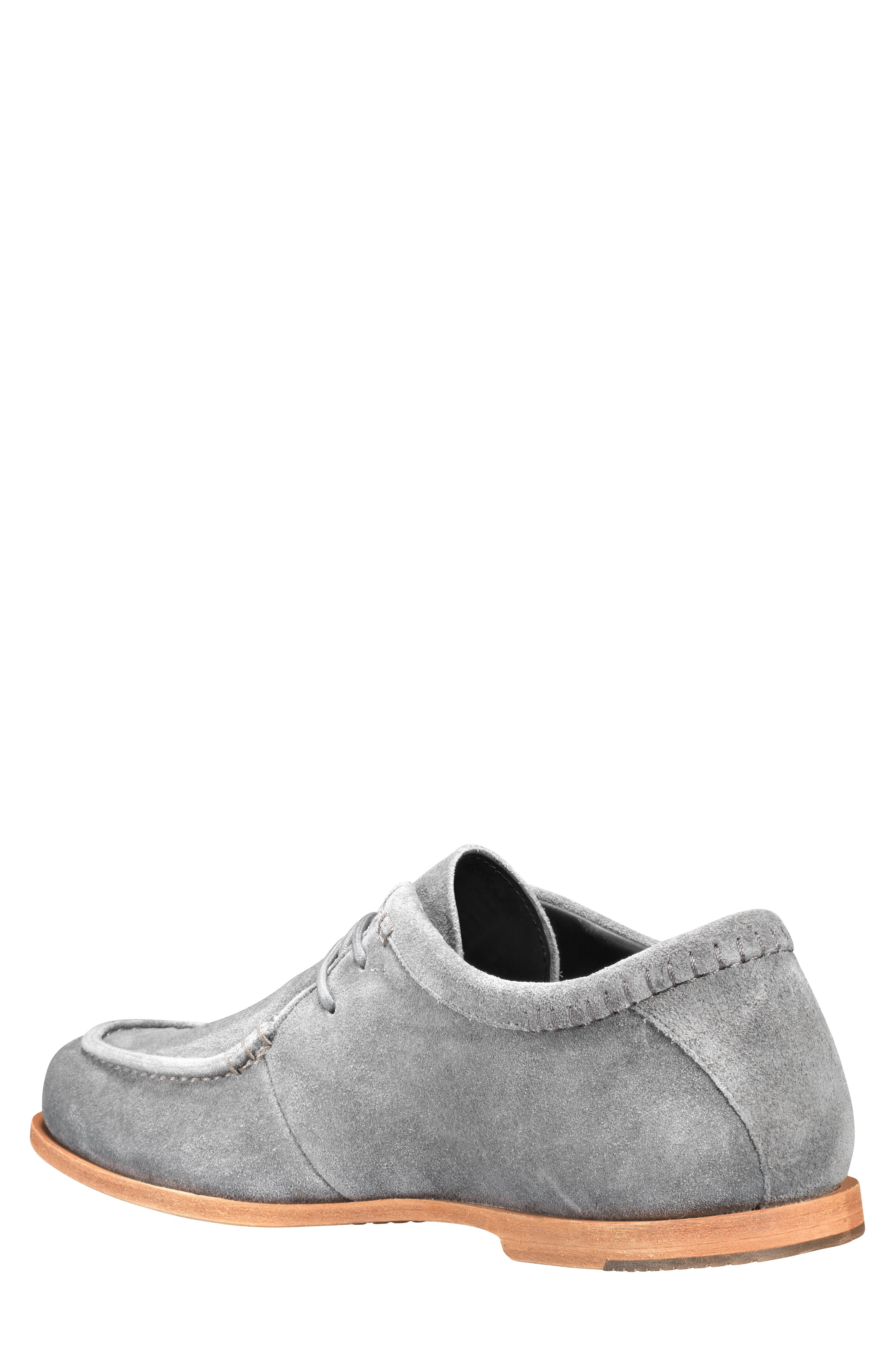 Tauk Point Moc Toe Derby,                             Alternate thumbnail 2, color,                             GREY SUEDE