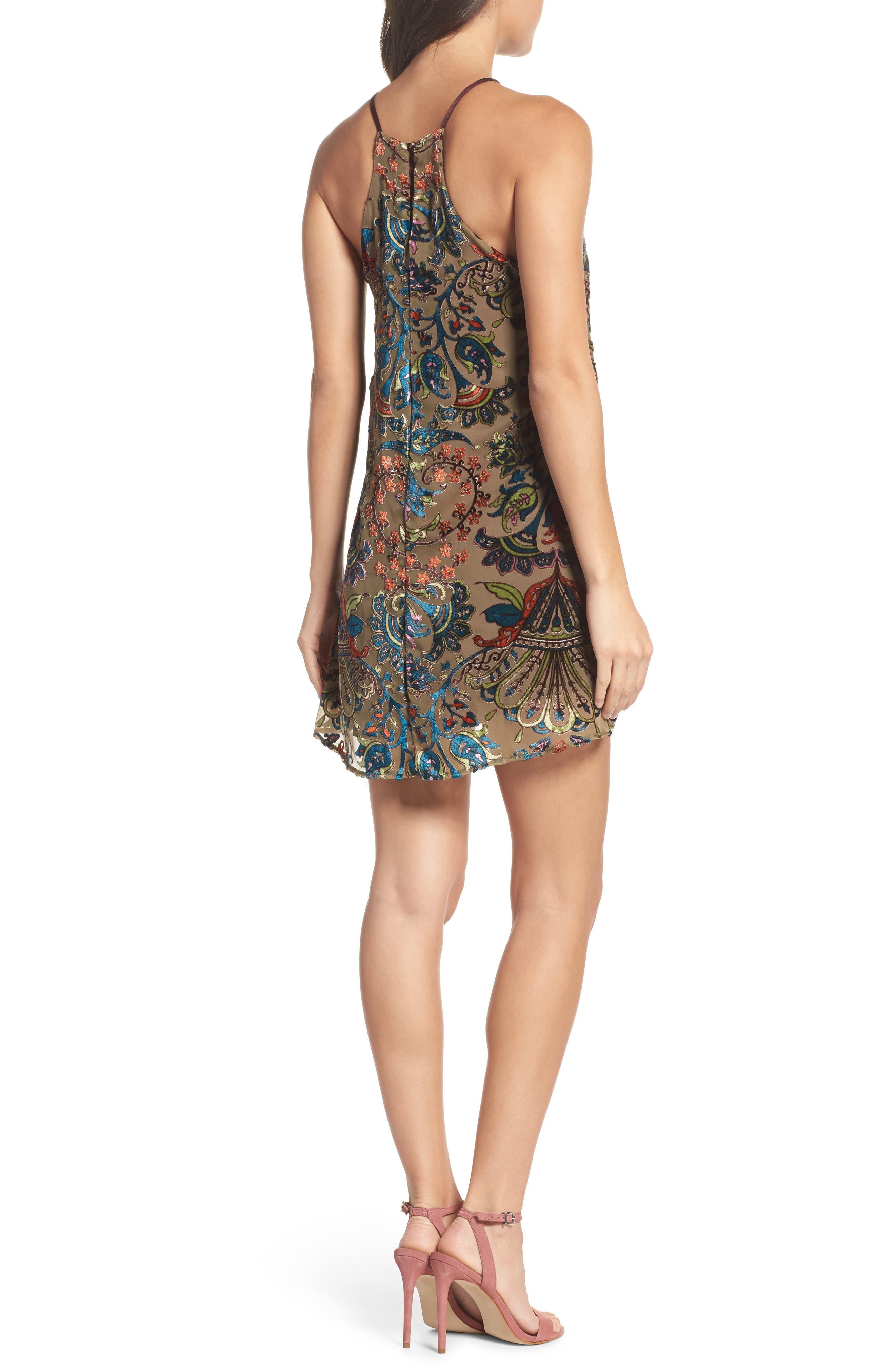 Burnout Velvet Dress,                             Alternate thumbnail 2, color,                             302