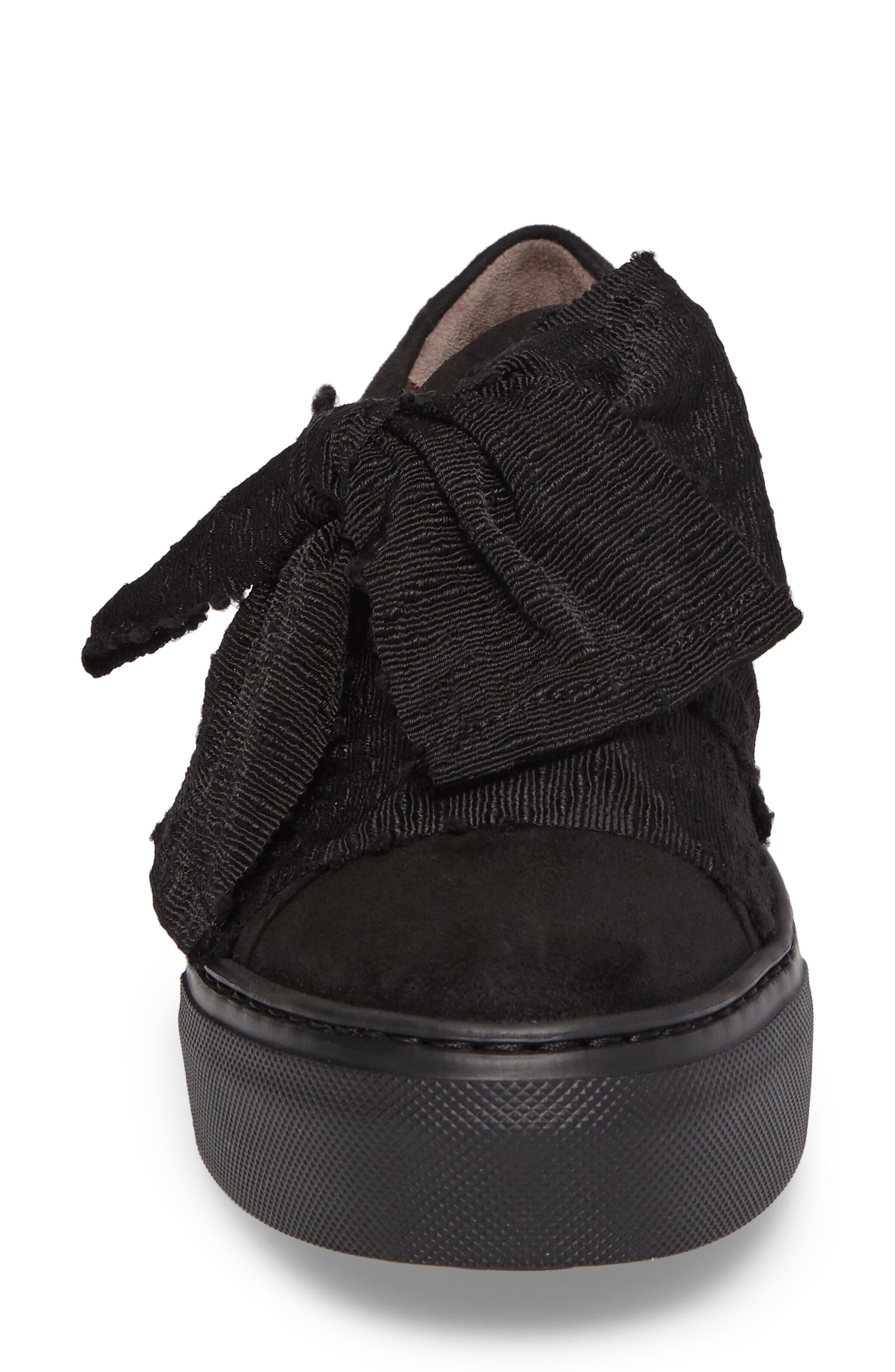 Bow Platform Sneaker,                             Alternate thumbnail 4, color,                             002