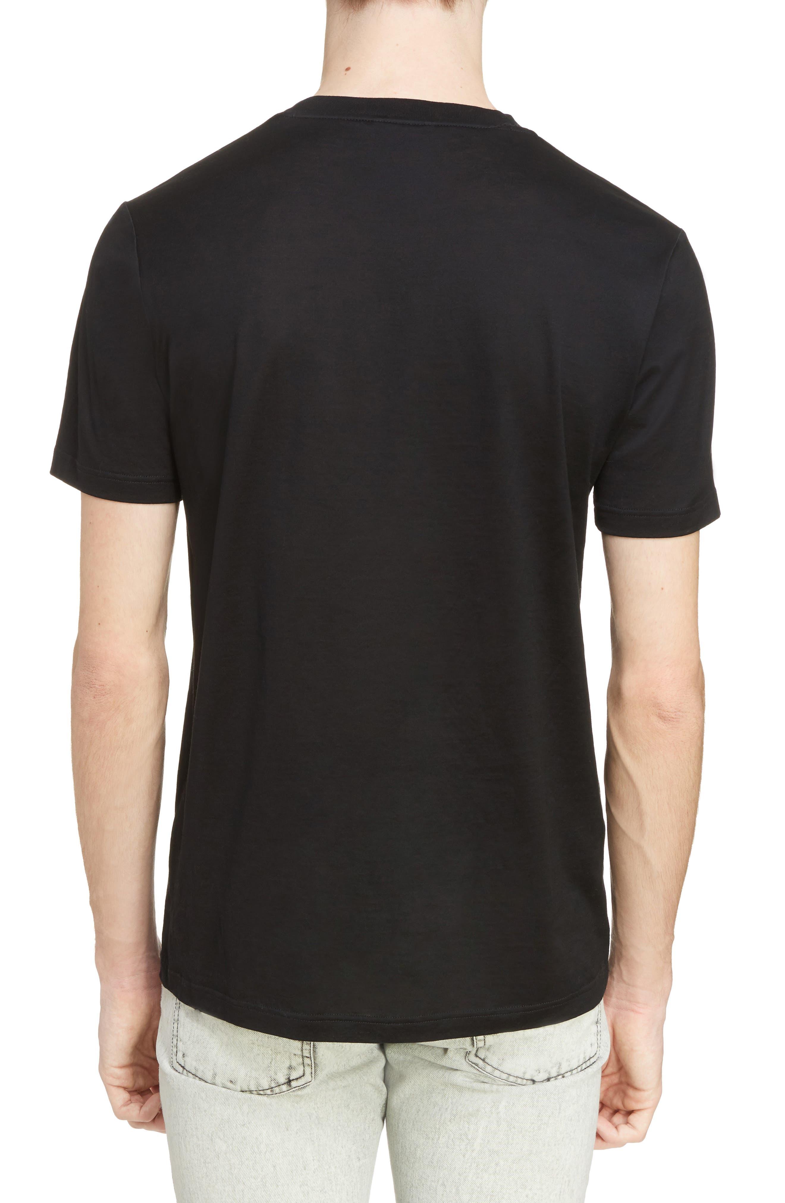 Reflective Tape Logo T-Shirt,                             Alternate thumbnail 2, color,                             BLACK