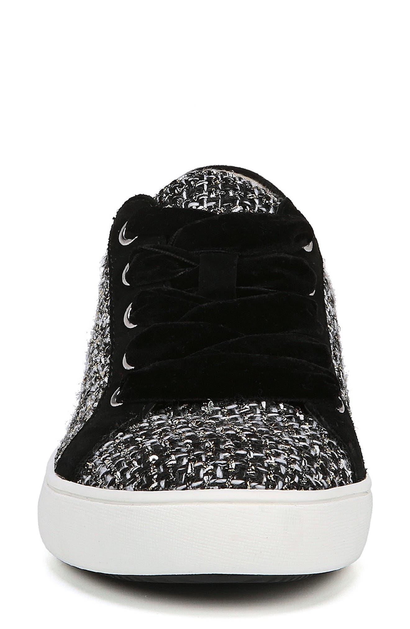 Morrison Sneaker,                             Alternate thumbnail 4, color,                             BLACK/ WHITE TWEED FABRIC