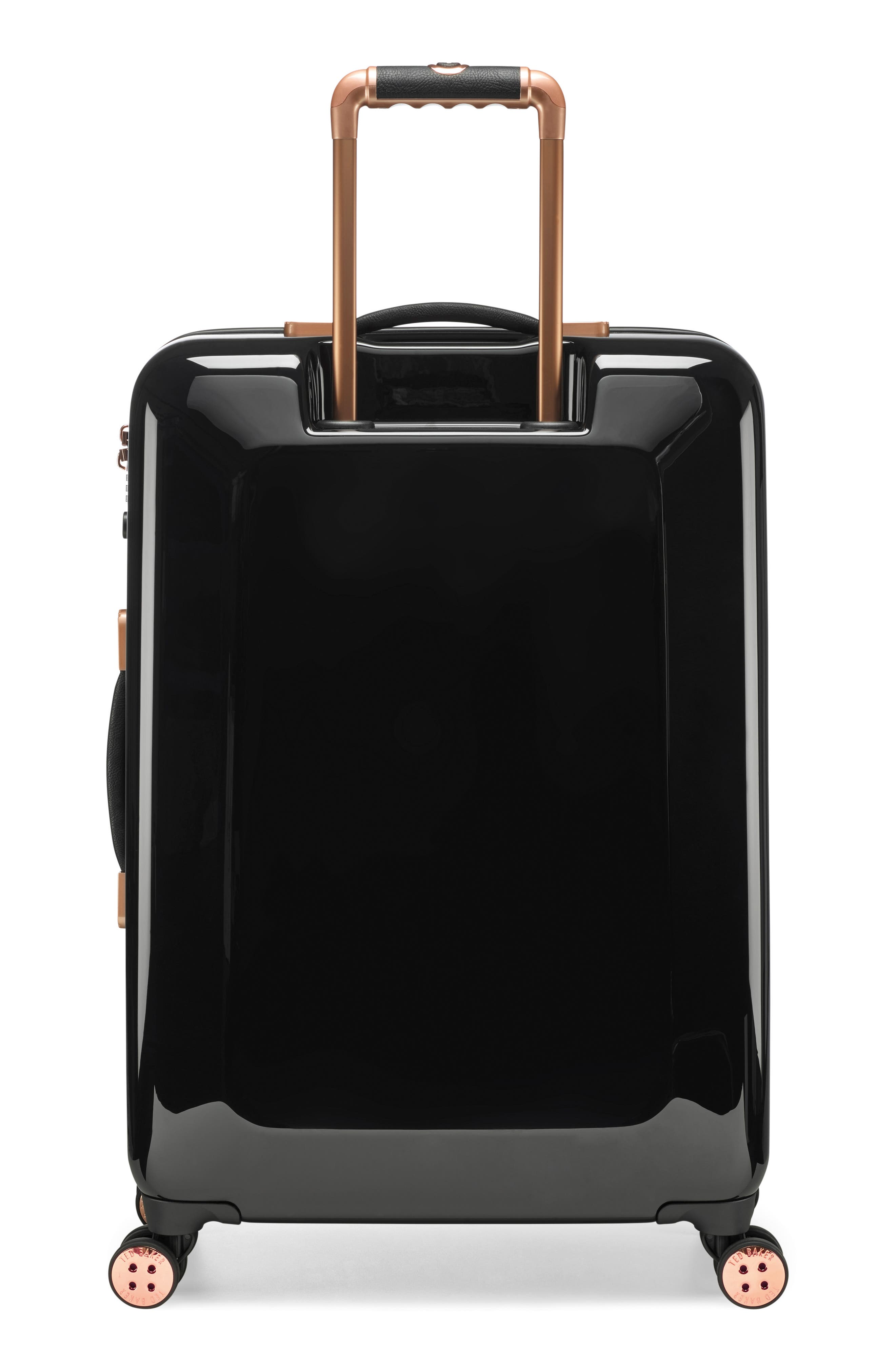 Medium Splendour Print 28-Inch Hard Shell Spinner Suitcase,                             Alternate thumbnail 4, color,                             BLACK