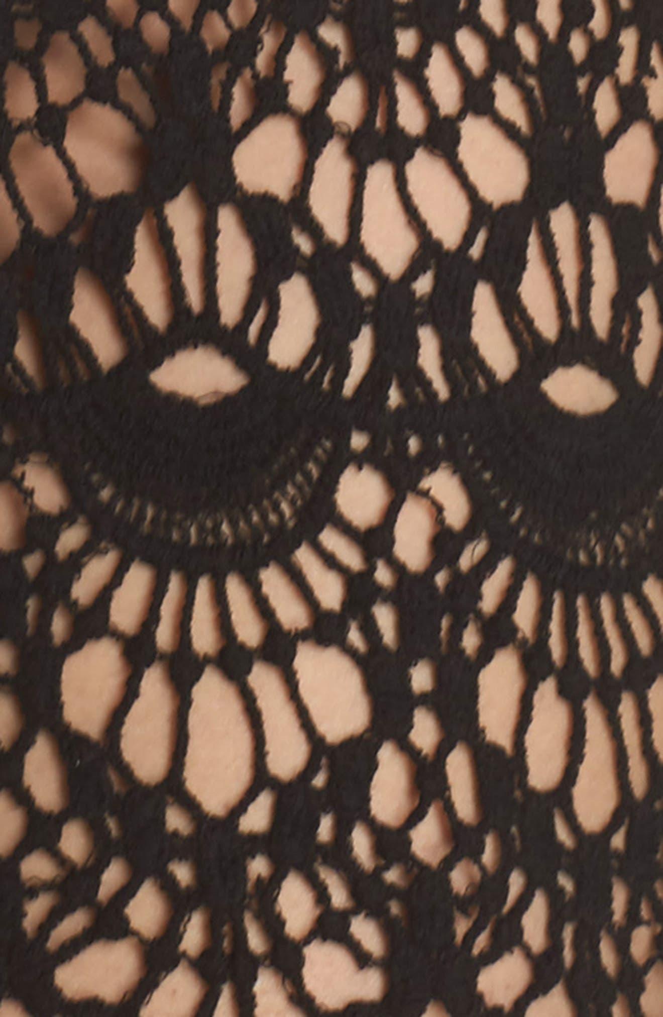 Crochet Cover-Up Tunic,                             Alternate thumbnail 5, color,                             001