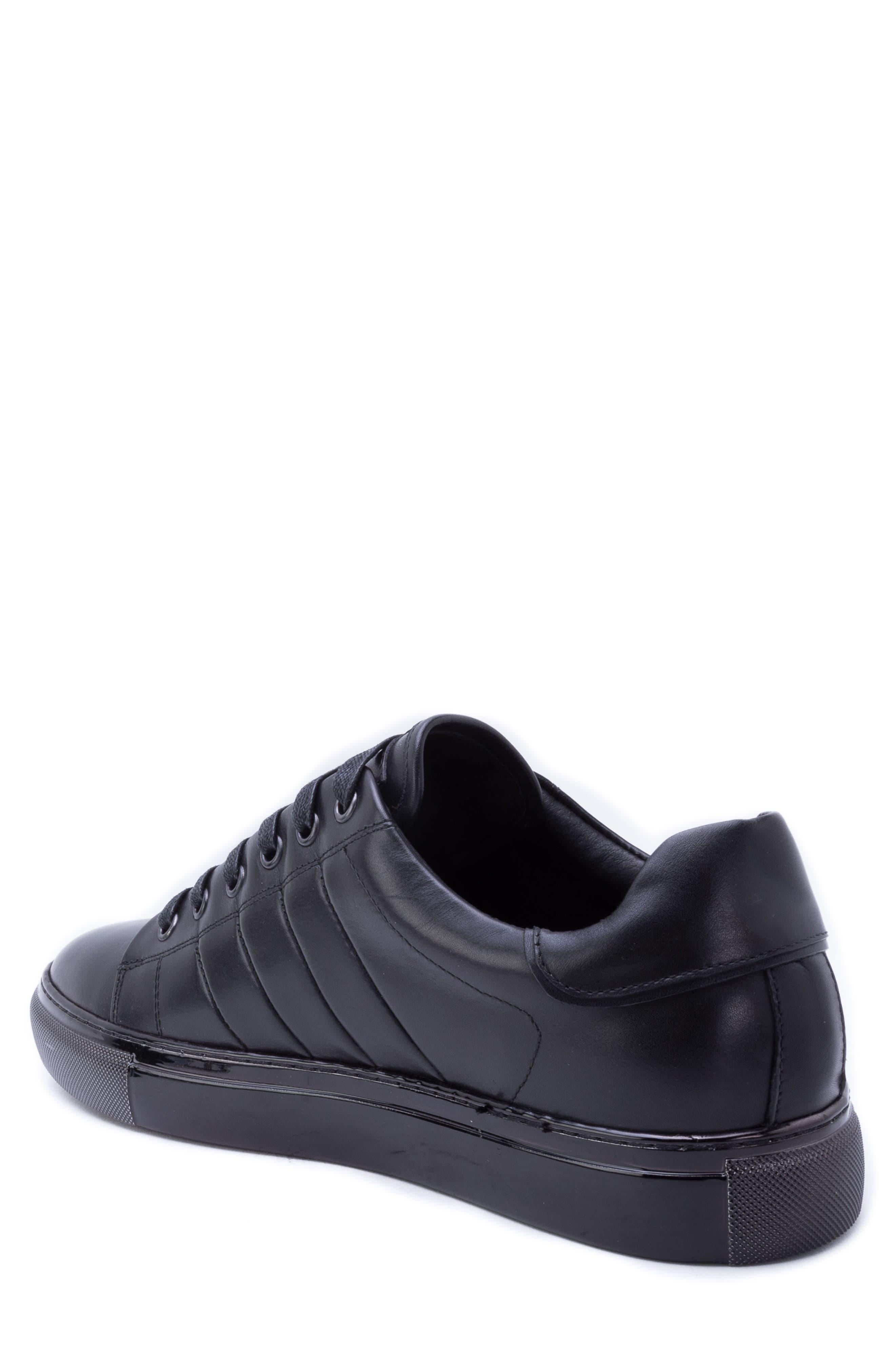 Hackman Sneaker,                             Alternate thumbnail 2, color,                             BLACK LEATHER