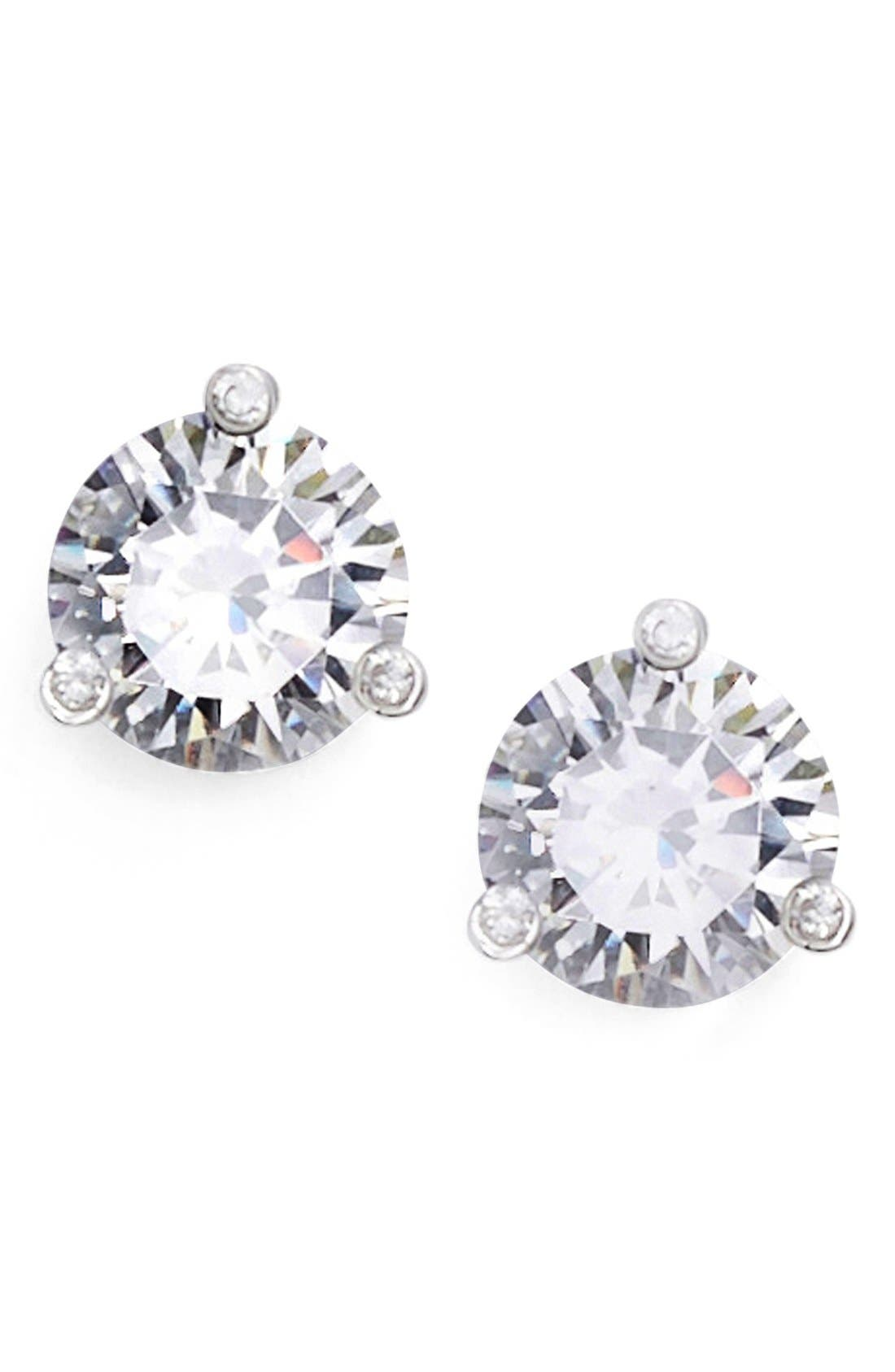 'rise and shine' stud earrings,                         Main,                         color, SILVER