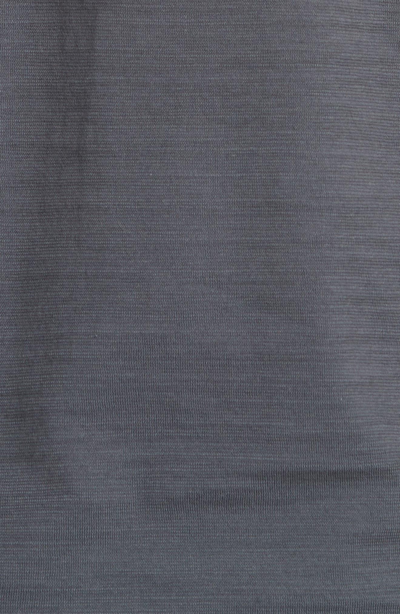 Slub Crewneck T-Shirt,                             Alternate thumbnail 5, color,                             AUBERGINE