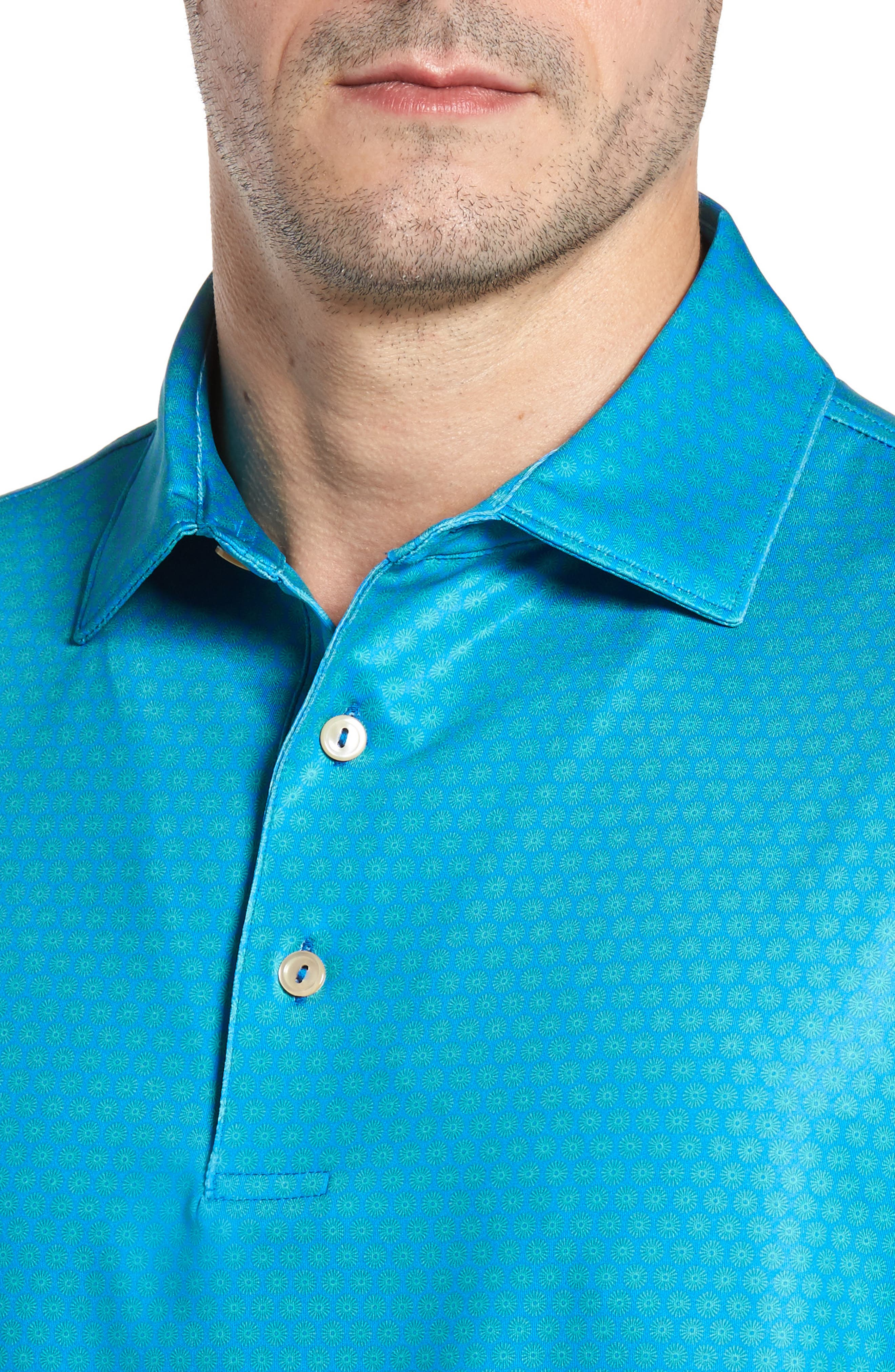 Sean Mata Sunburst Stretch Jersey Polo,                             Alternate thumbnail 4, color,                             403