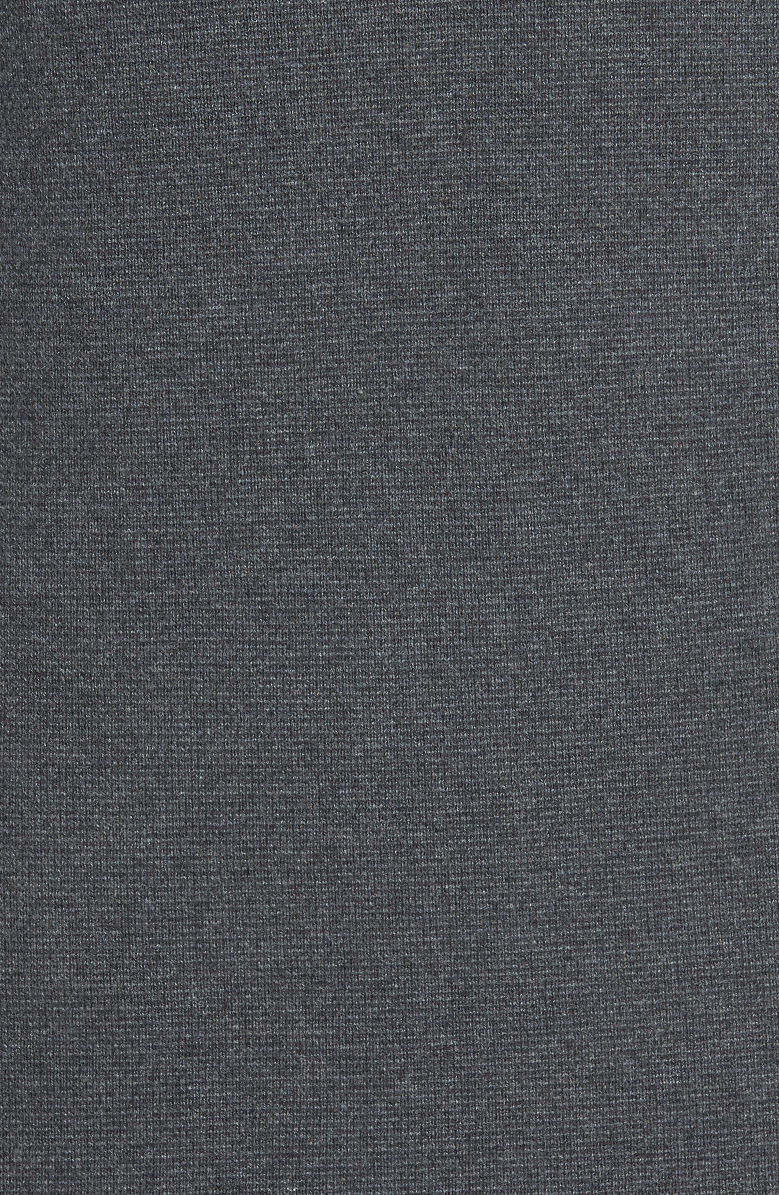 Milano Front Regular Fit Cotton Sweater,                             Alternate thumbnail 5, color,                             CHARCOAL MELANGE
