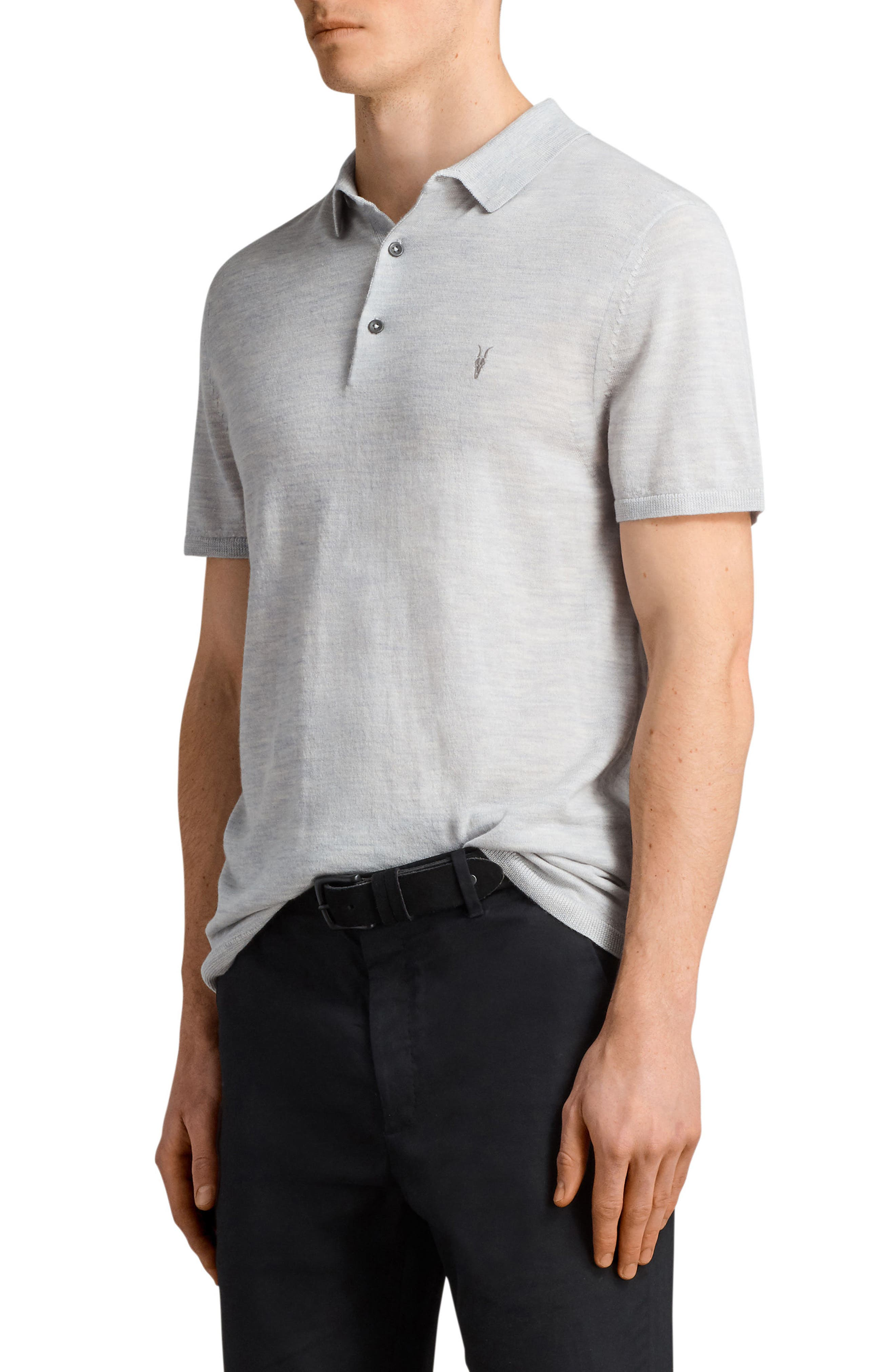 Mode Slim Fit Merino Wool Polo,                             Alternate thumbnail 9, color,