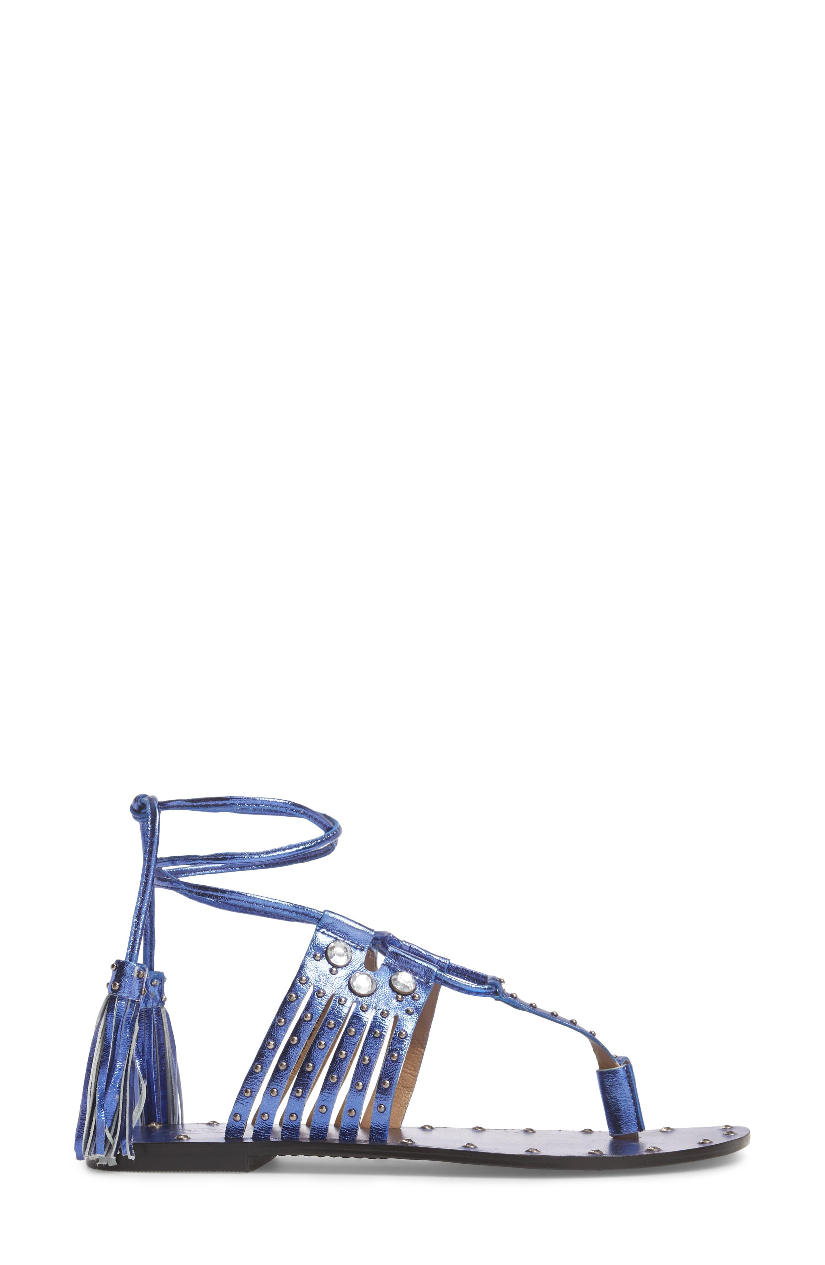 Fay Embellished Wraparound Sandal,                             Alternate thumbnail 8, color,