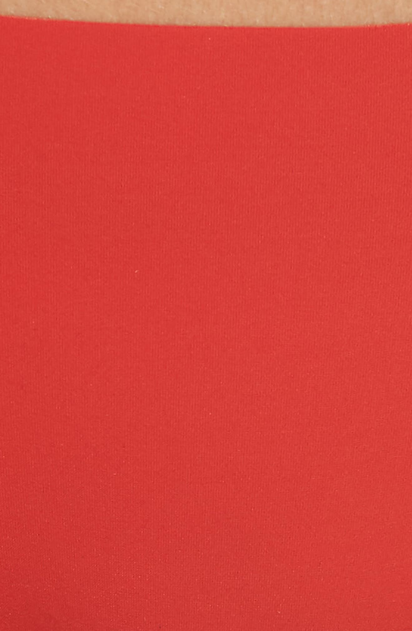 'Invisibles' Thong,                             Alternate thumbnail 6, color,                             MANIC RED