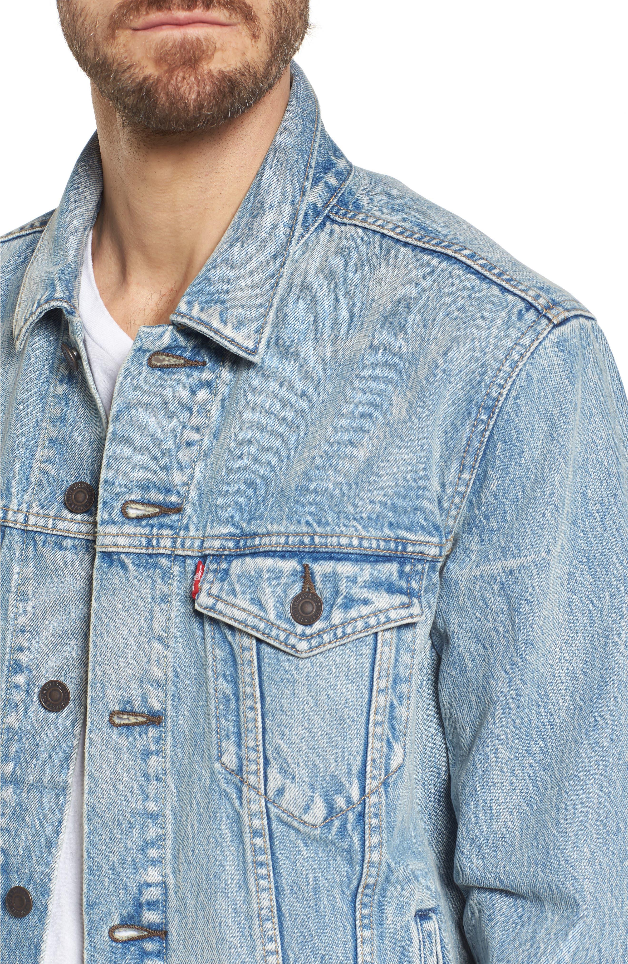 Trucker Denim Jacket,                             Alternate thumbnail 4, color,                             420