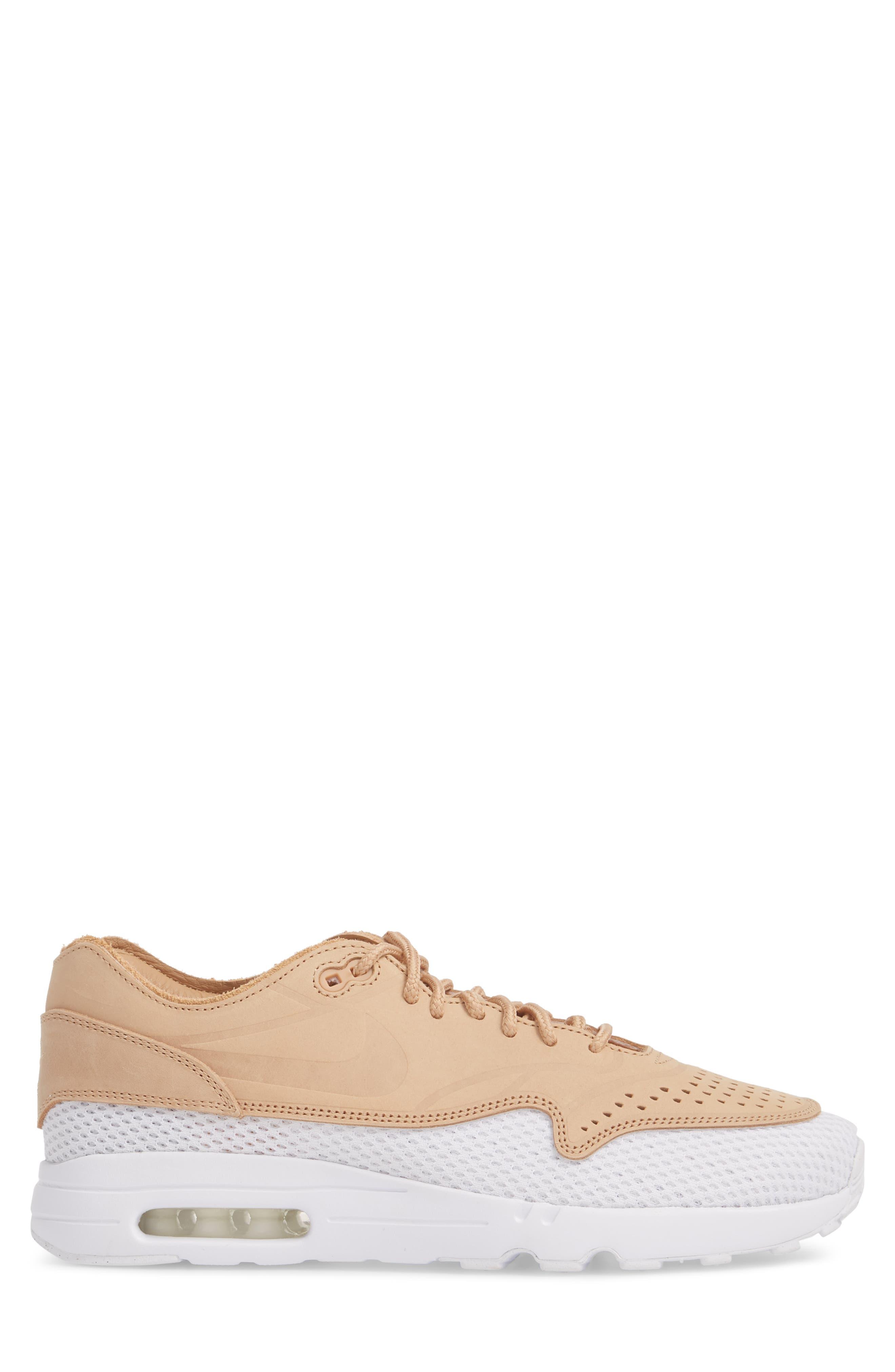 Air Max 1 Ultra 2.0 Premium Sneaker,                             Alternate thumbnail 3, color,                             VACHETTA TAN/ WHITE