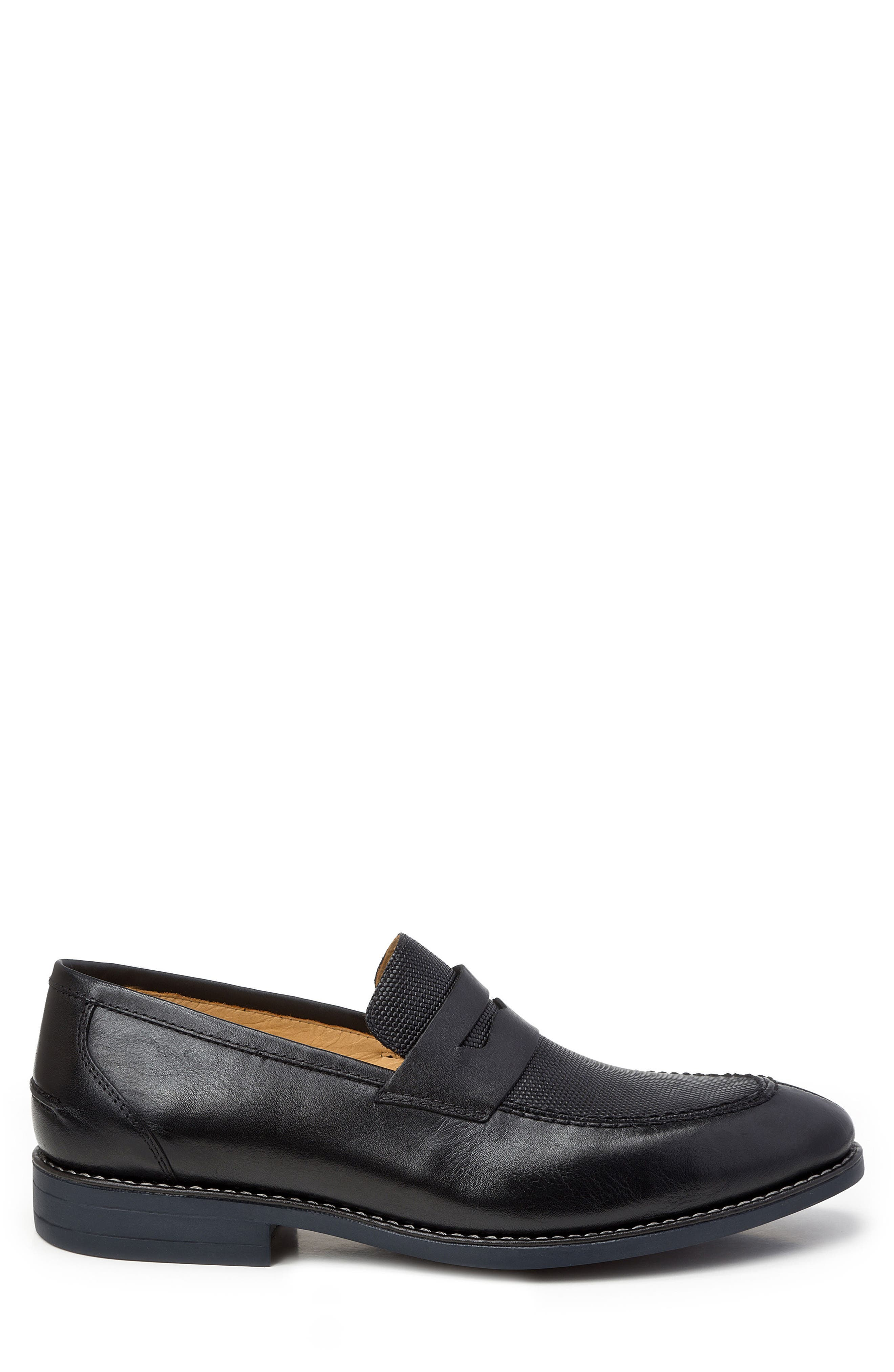 Maestro Penny Loafer,                             Alternate thumbnail 3, color,                             BLACK LEATHER