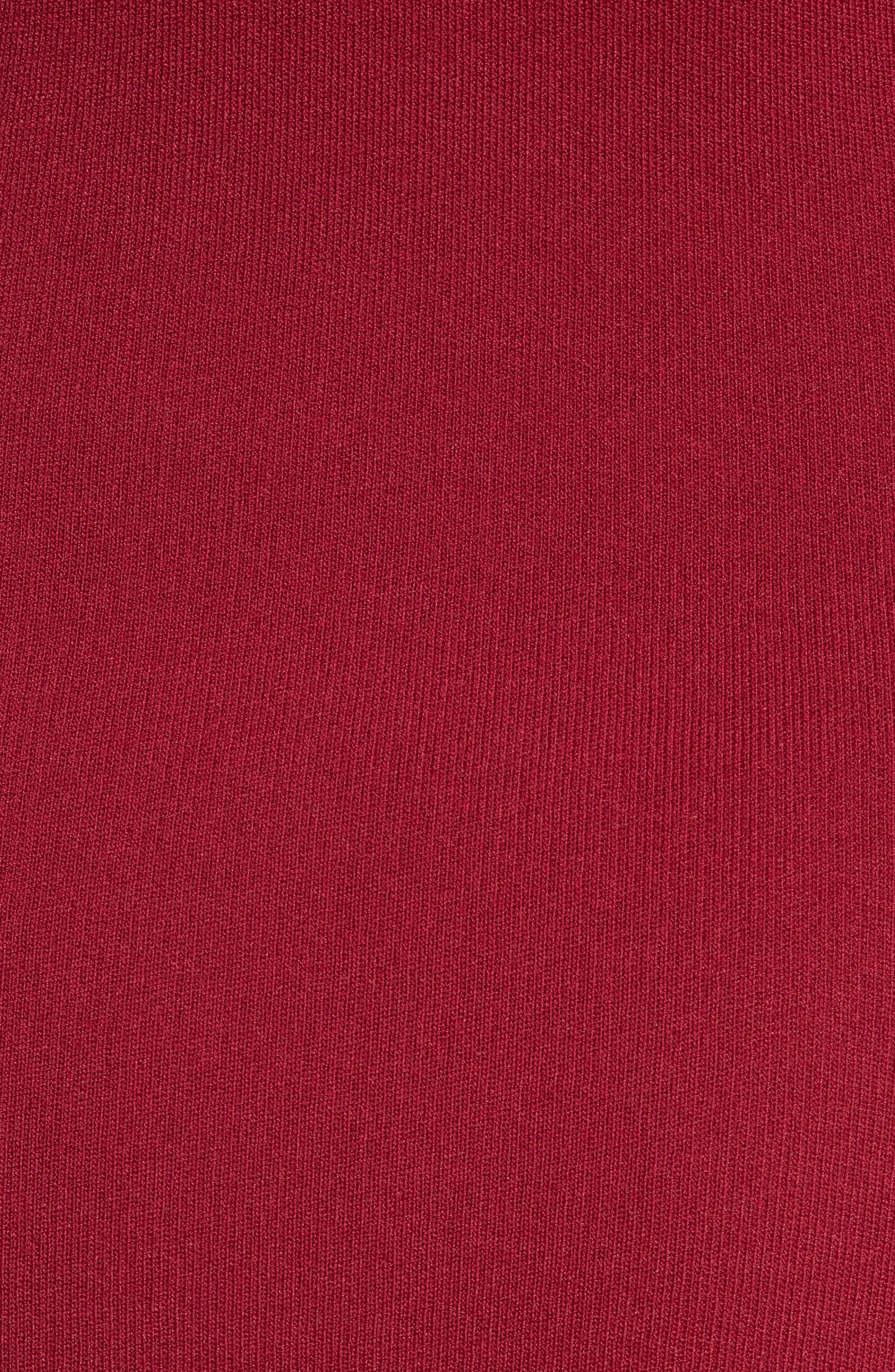 Slashed Knit Ruffle Off the Shoulder Dress,                             Alternate thumbnail 5, color,                             604