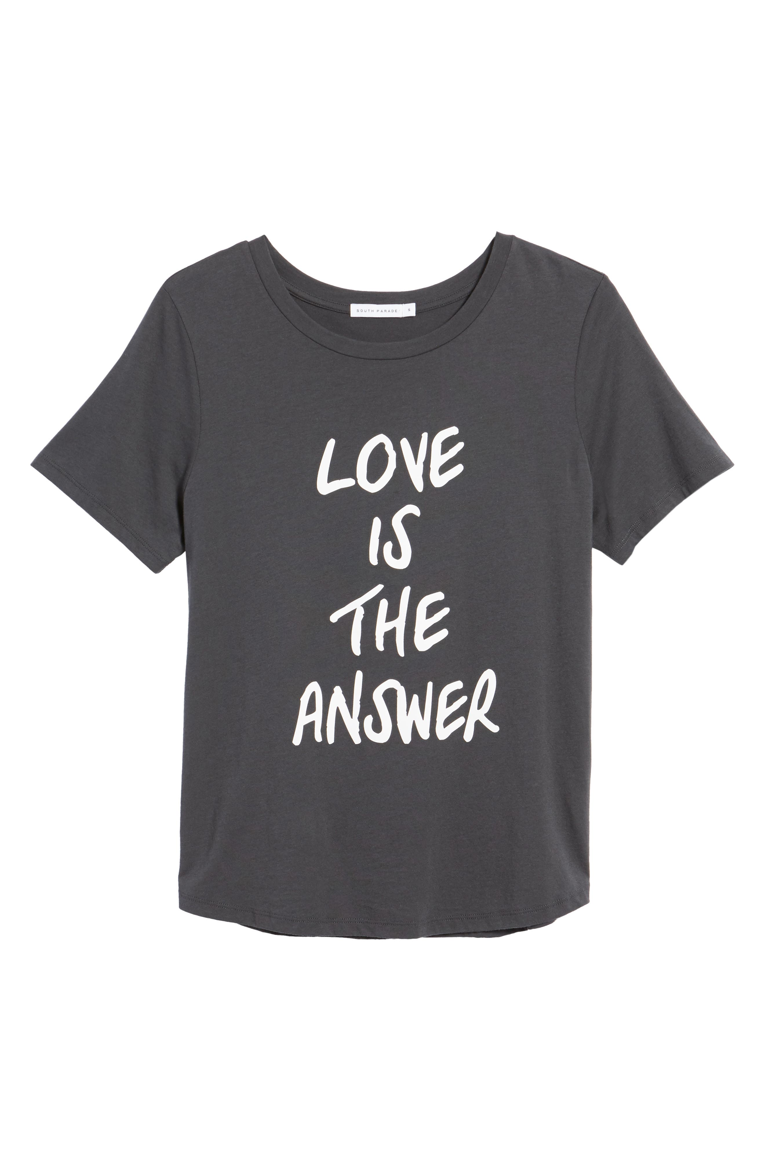 Love is the Answer Tee,                             Alternate thumbnail 6, color,                             001