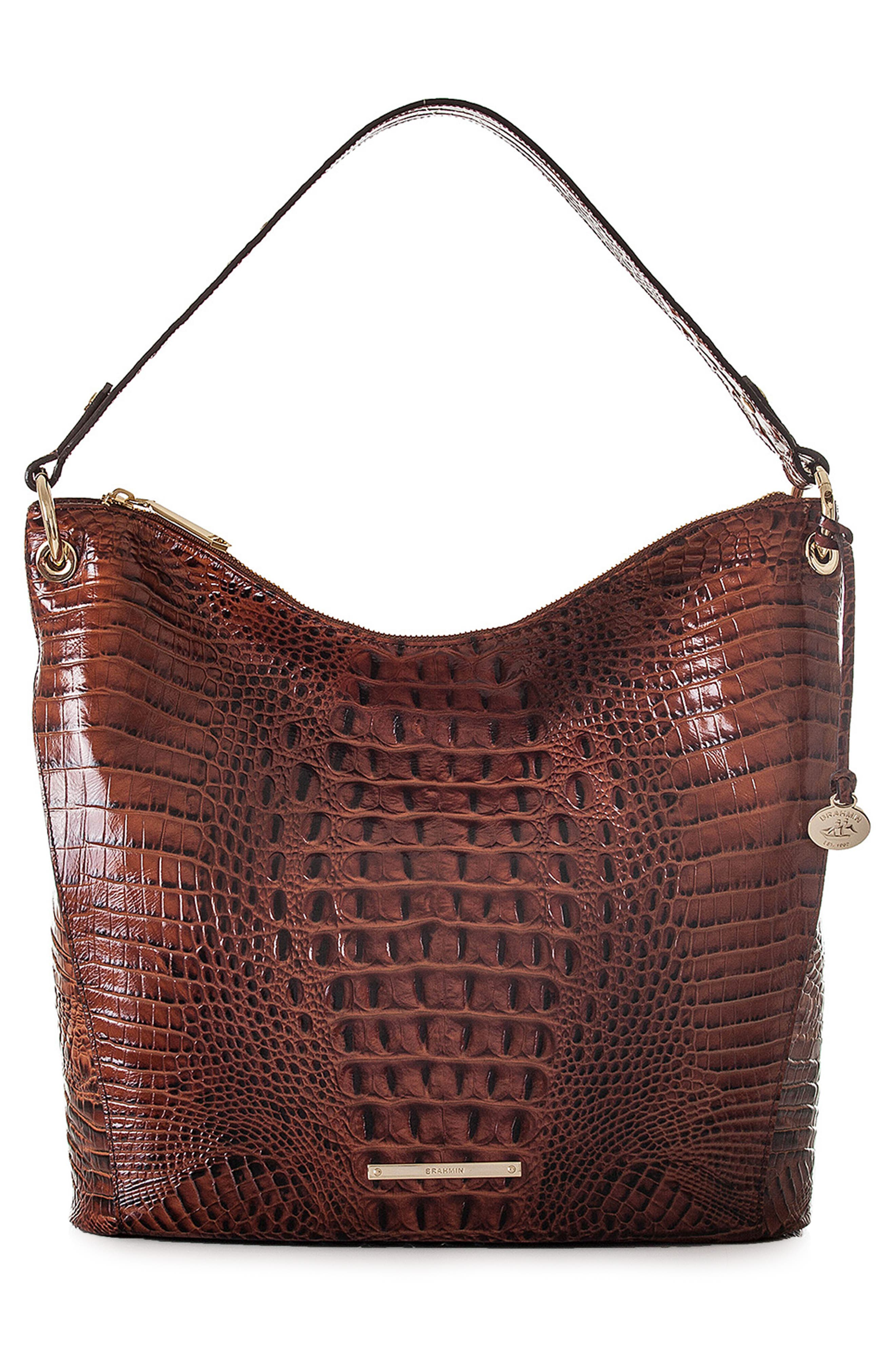 Melbourne Sevi Croc Embossed Leather Hobo,                             Main thumbnail 1, color,                             215