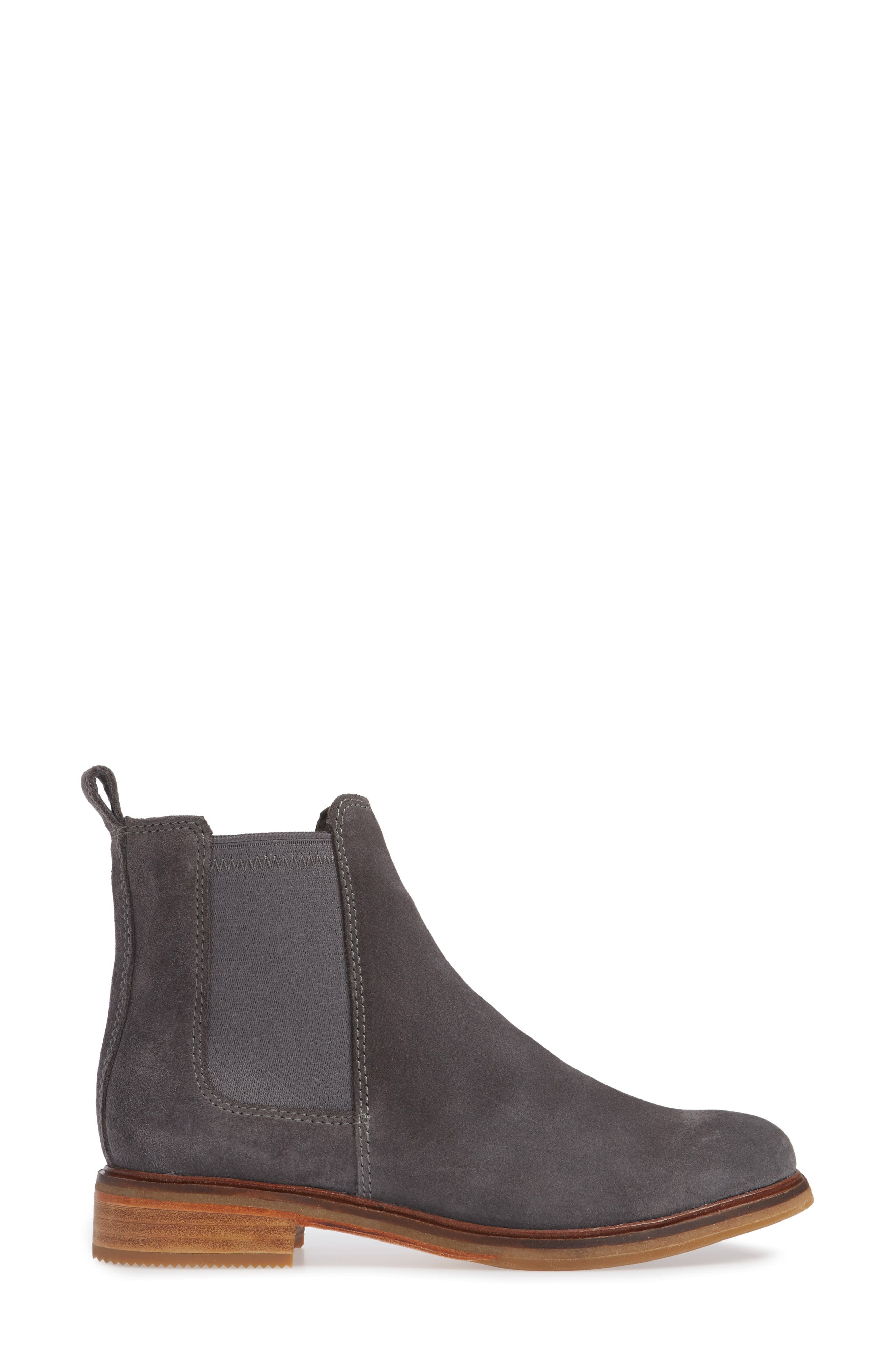Clarkdale Arlo Boot,                             Alternate thumbnail 3, color,                             GREY SUEDE