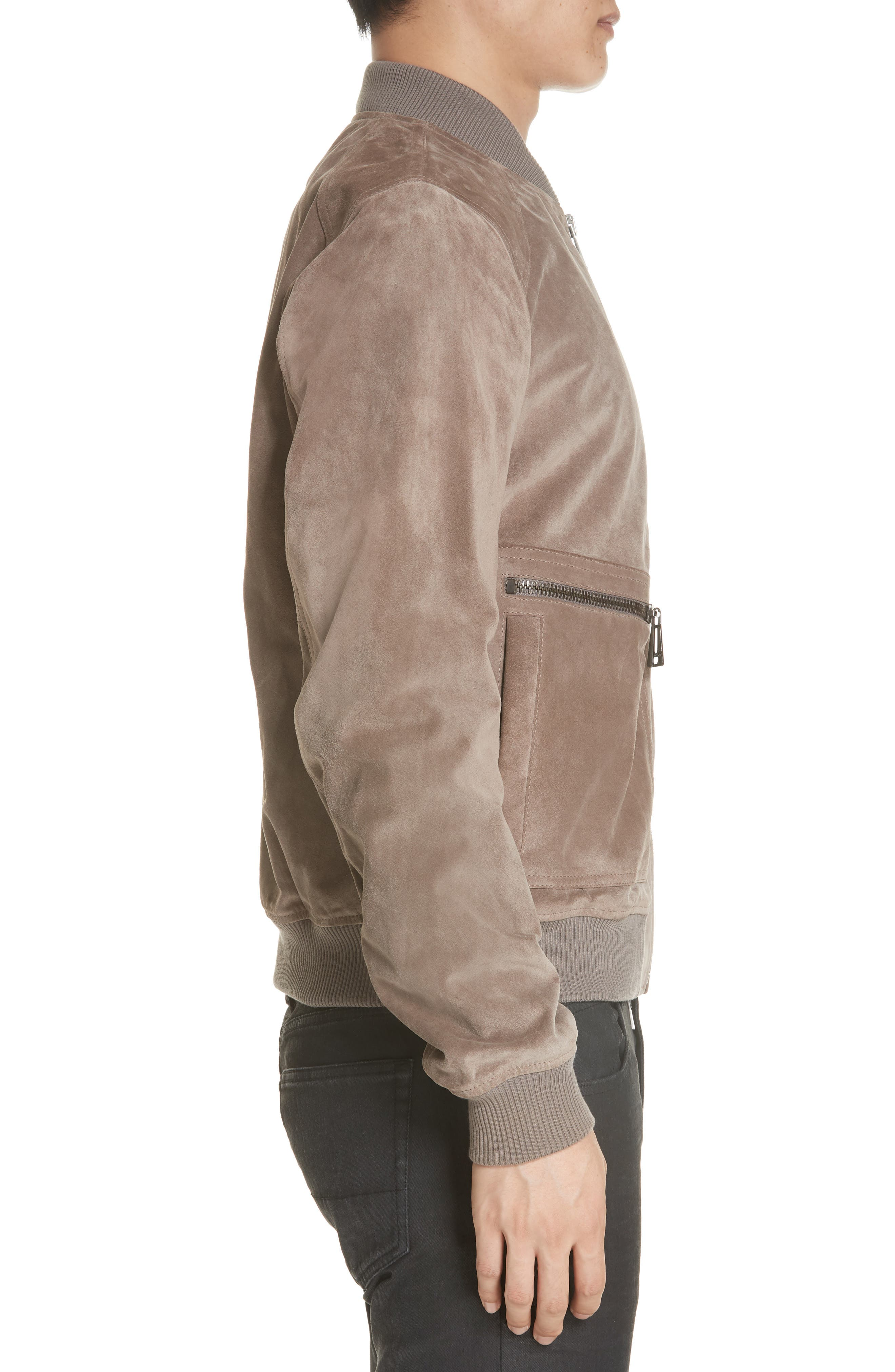 Winswell Suede Jacket,                             Alternate thumbnail 3, color,                             DRIFTWOOD