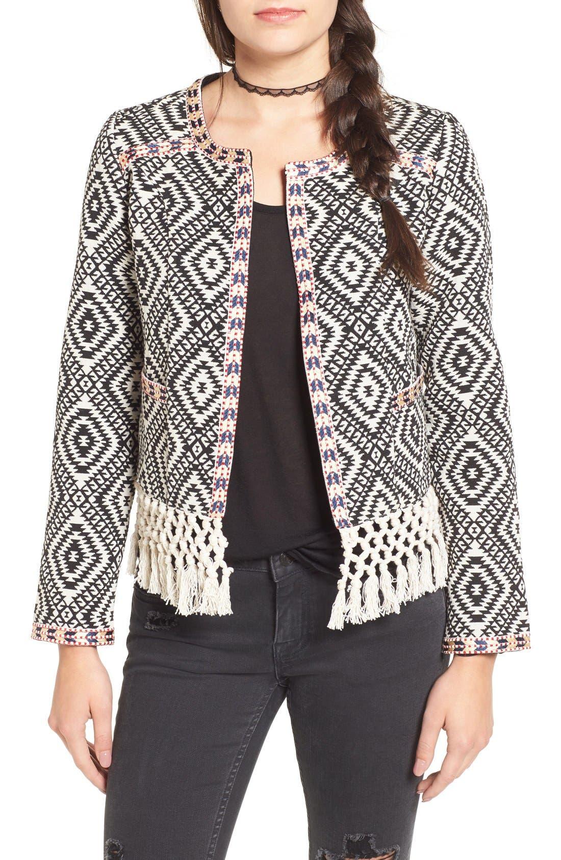 TULAROSA,                             'Santa Fe' Jacquard Jacket,                             Main thumbnail 1, color,                             001