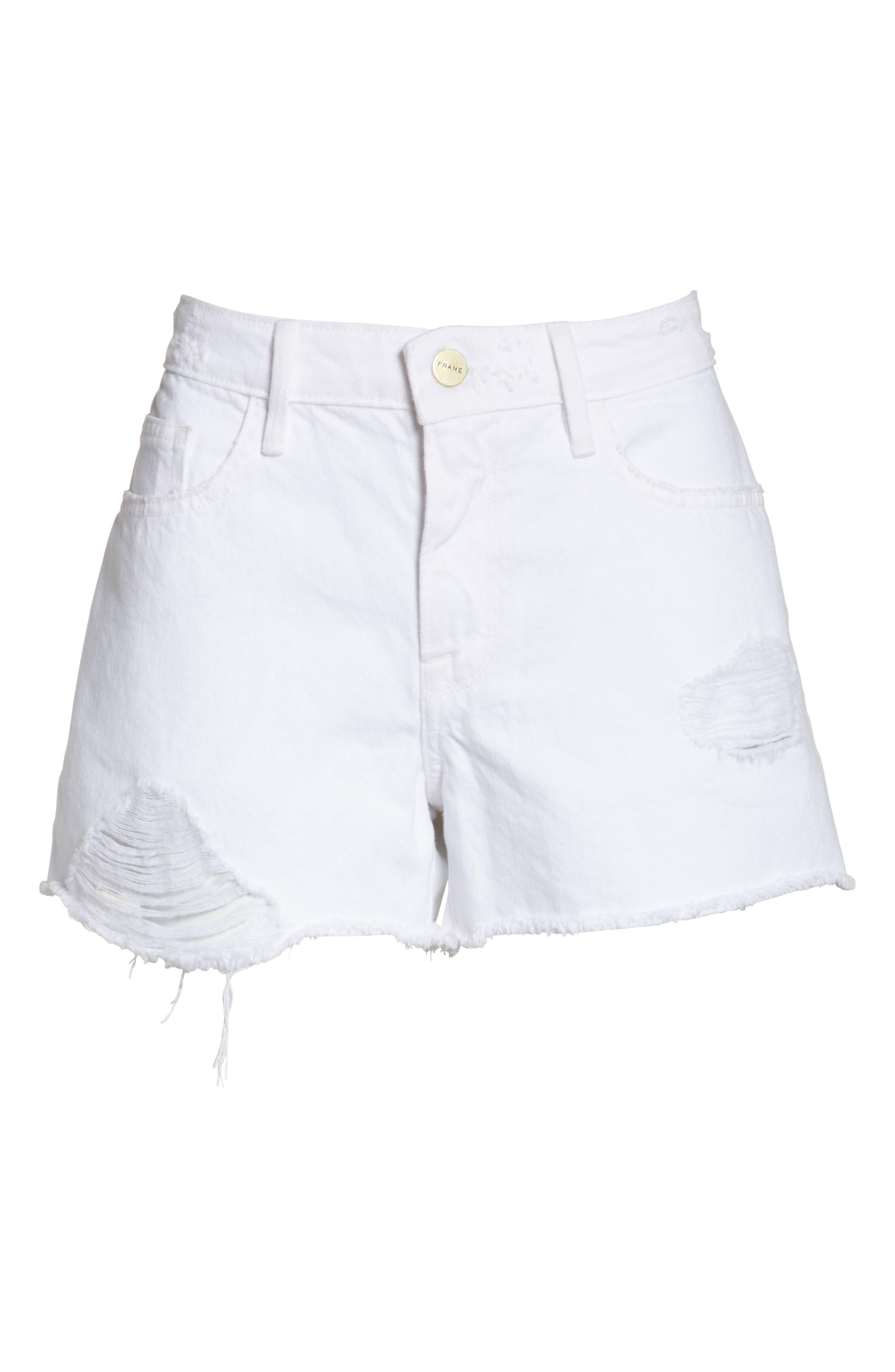 Le Grand Garçon Cutoff Denim Shorts,                             Alternate thumbnail 6, color,                             150