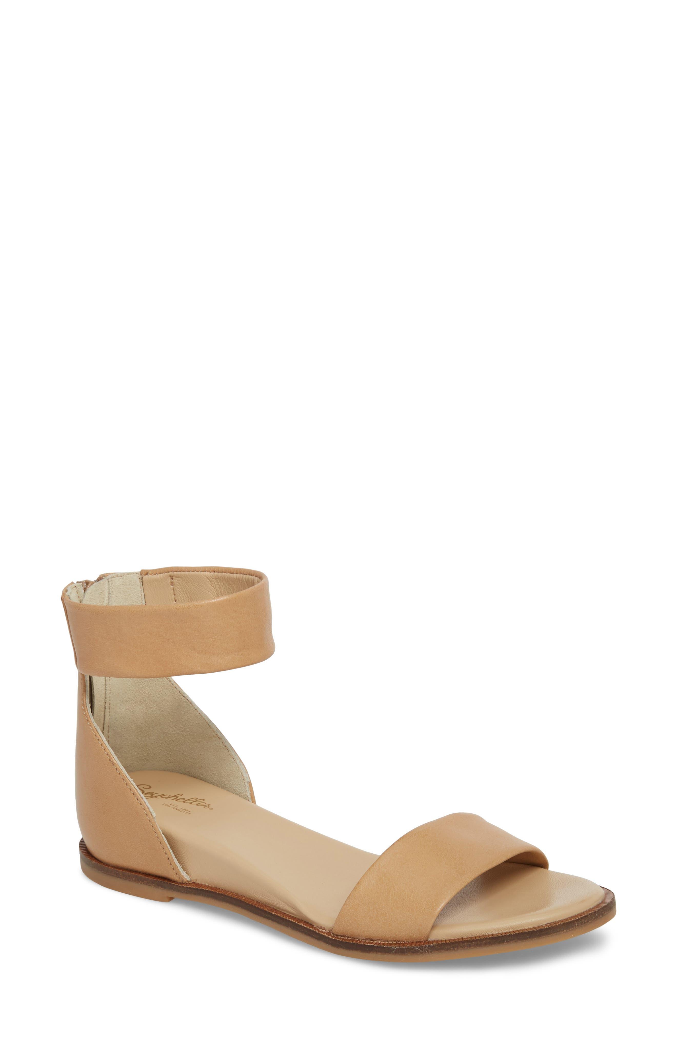 Ankle Strap Sandal,                         Main,                         color, VACCHETTA LEATHER