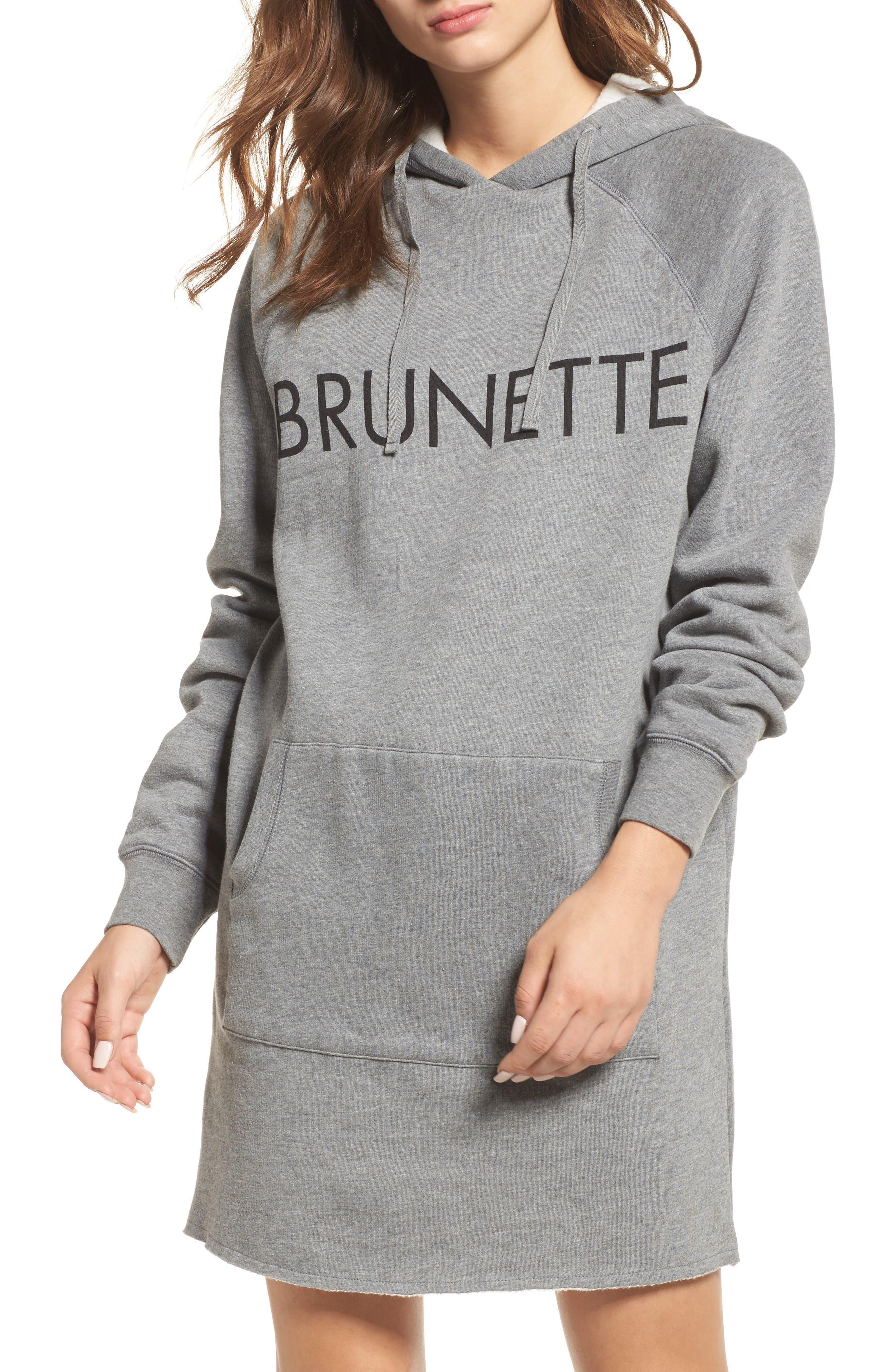 Brunette Sweatshirt Dress,                             Main thumbnail 1, color,                             020