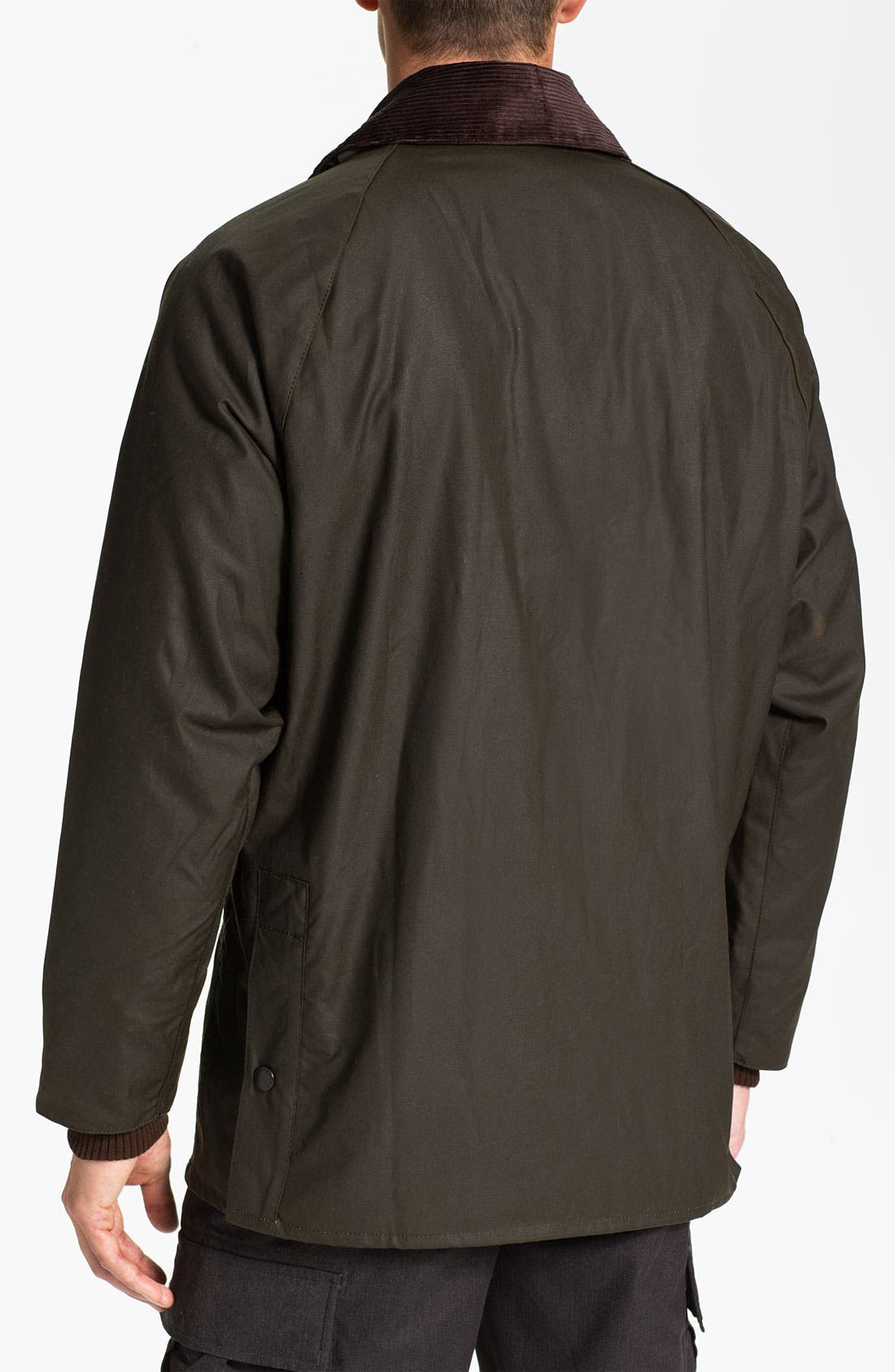 'Bedale' Relaxed Fit Waterproof Waxed Cotton Jacket,                             Alternate thumbnail 2, color,                             301