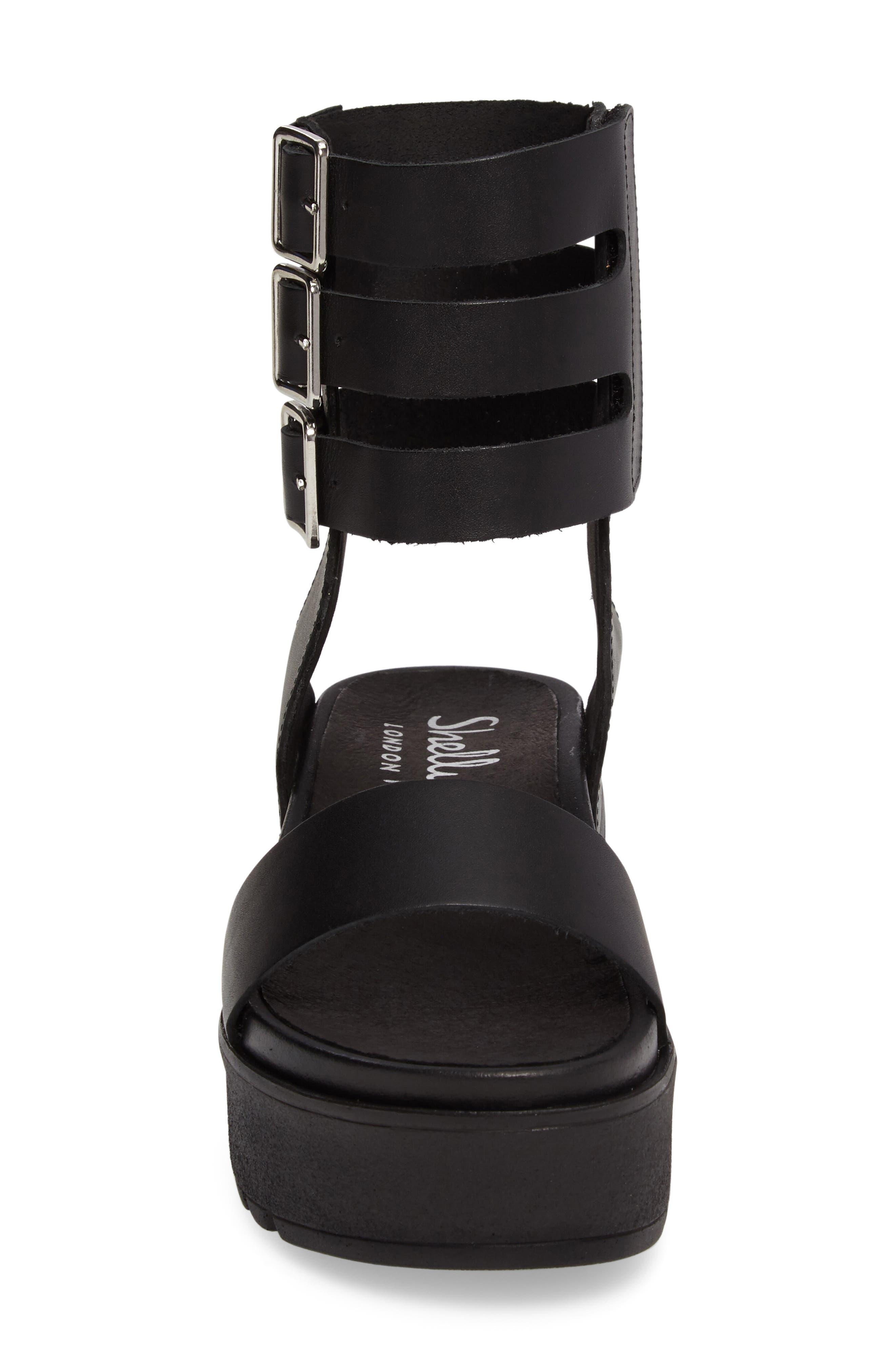 Kegan Platform Gladiator Sandal,                             Alternate thumbnail 4, color,                             001