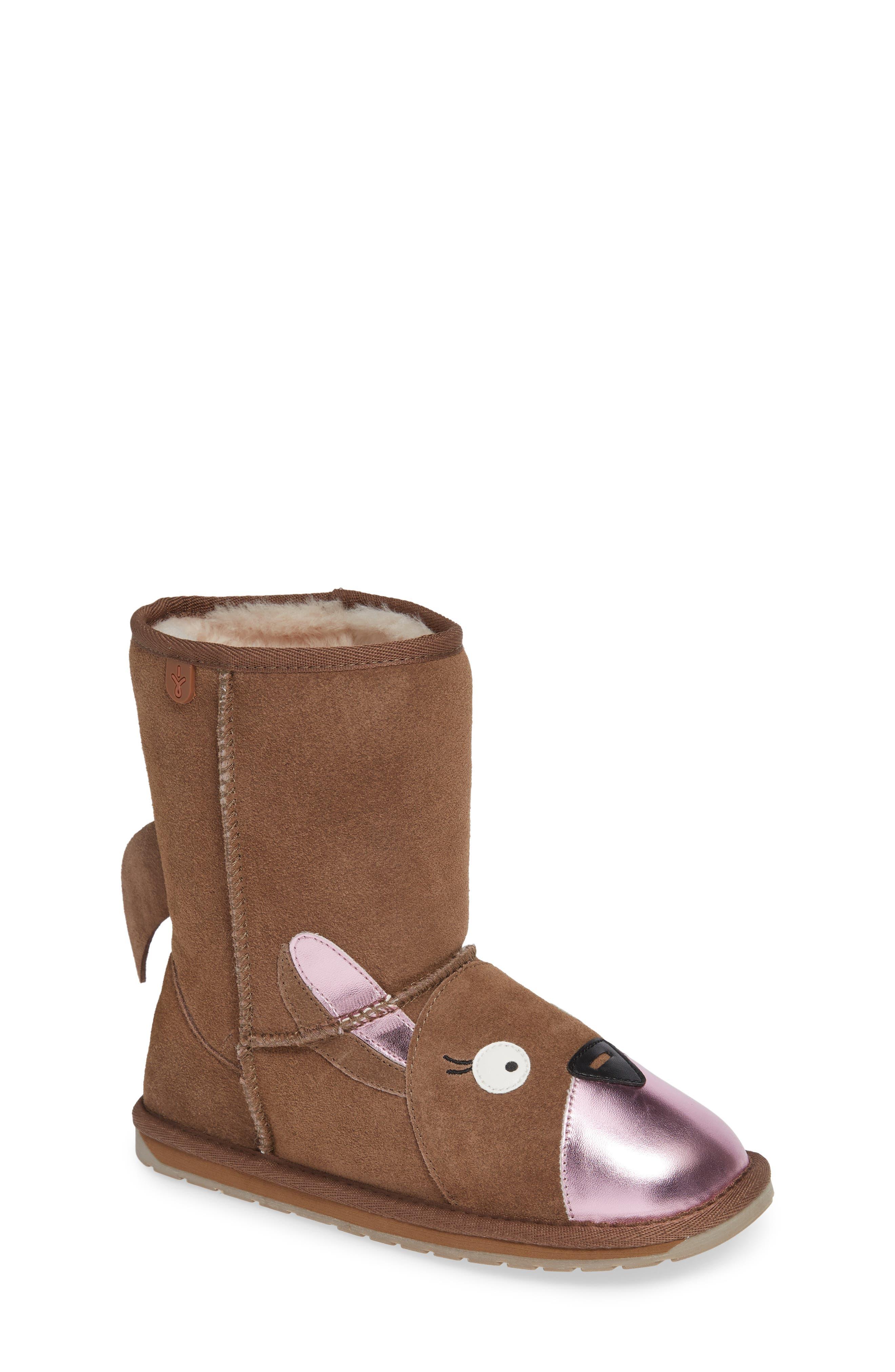 Kanga Wool Lined Boot,                             Main thumbnail 1, color,                             OAK