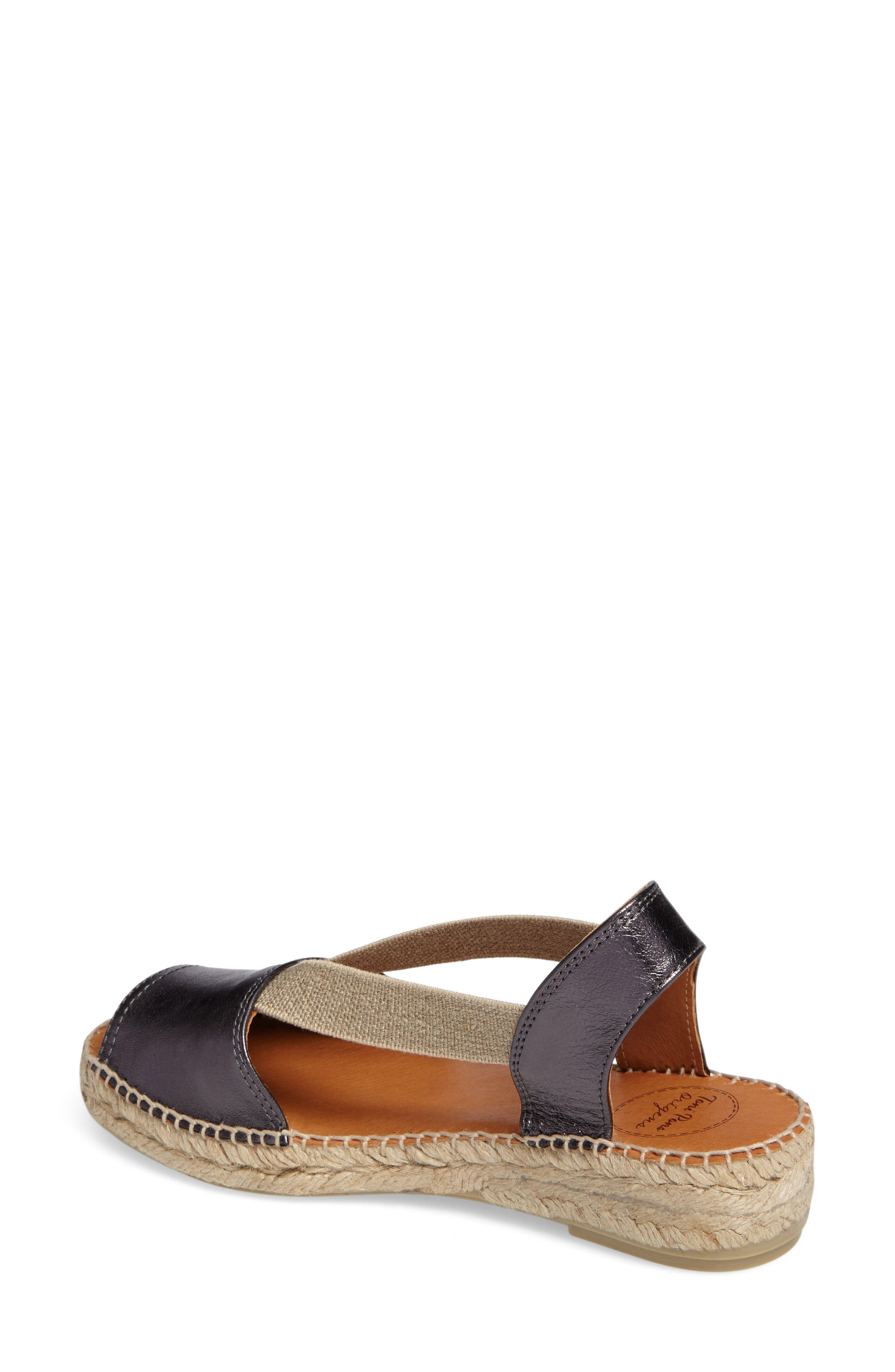 Etna Espadrille Sandal,                             Alternate thumbnail 2, color,                             LEAD LEATHER