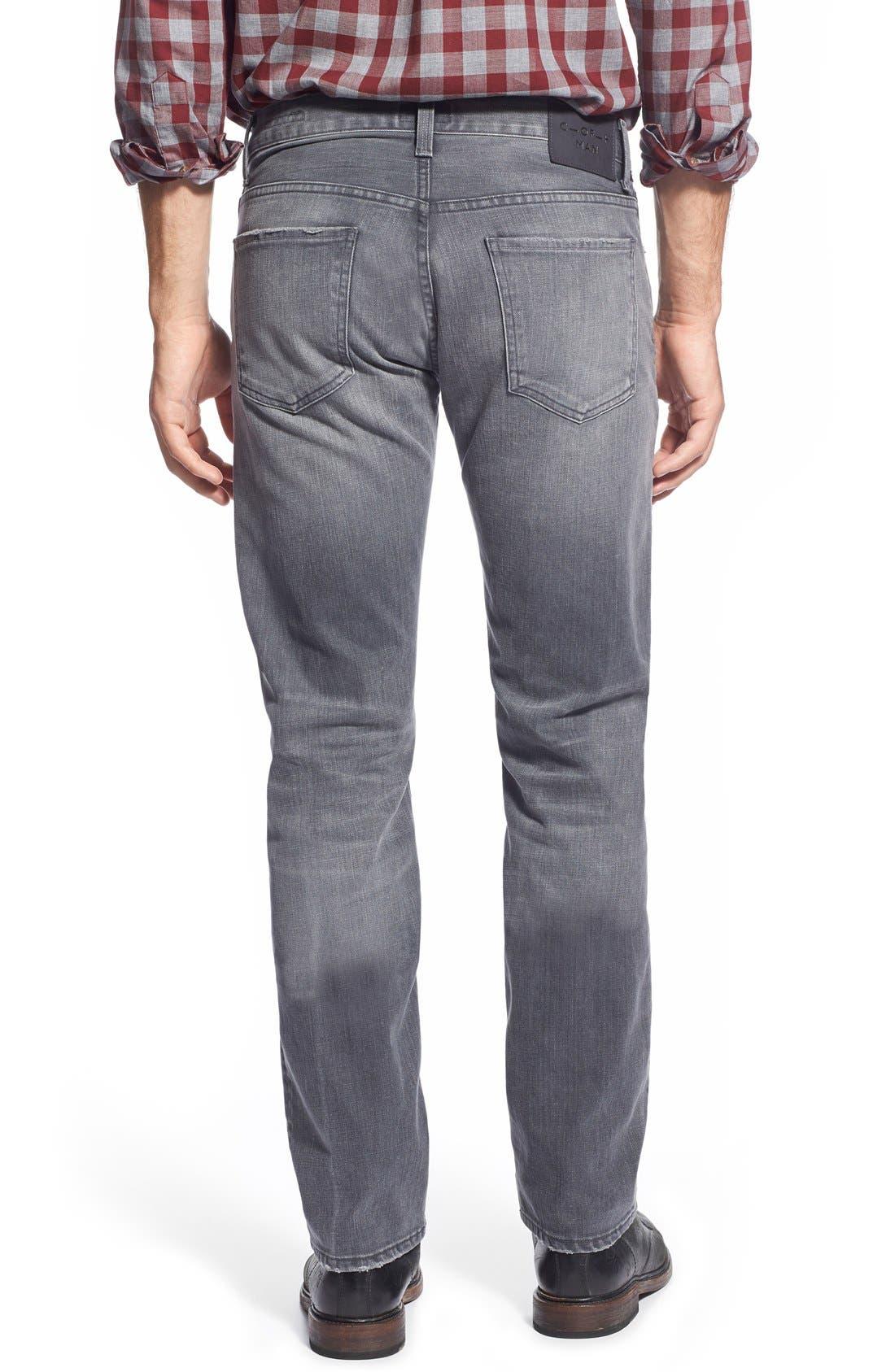 'Core' Slim Straight Leg Jeans,                             Alternate thumbnail 5, color,                             SHAKER HEIGHTS