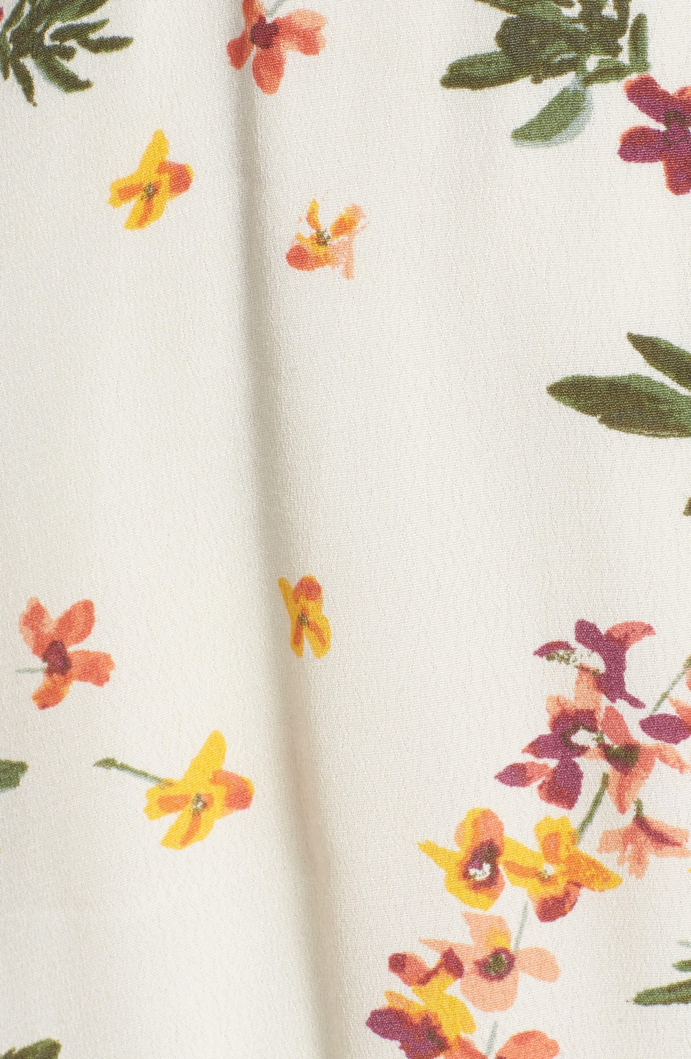 Regina Floral Wrap Minidress,                             Alternate thumbnail 6, color,