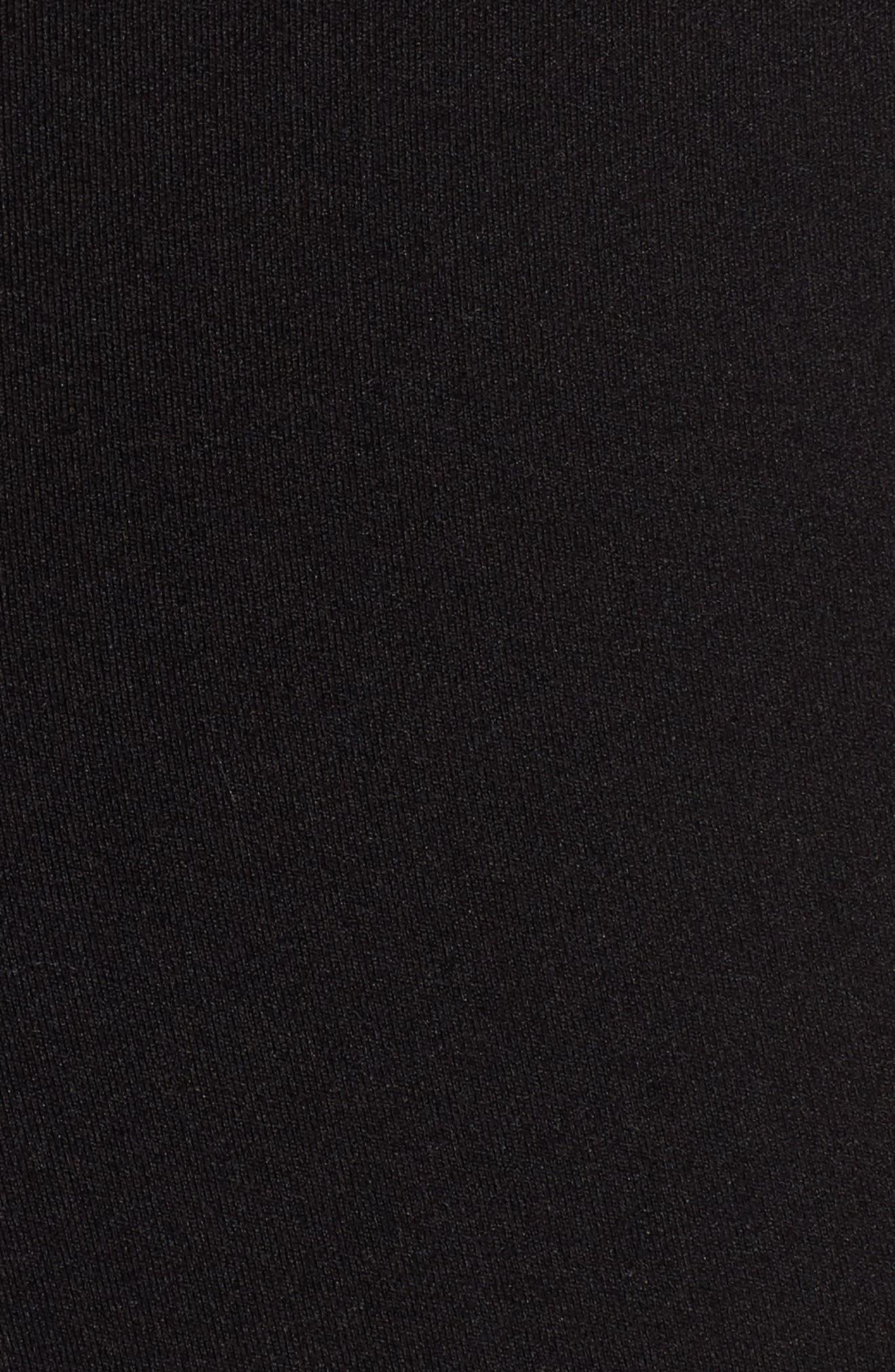Exposed Zip Knit Pants,                             Alternate thumbnail 5, color,                             001