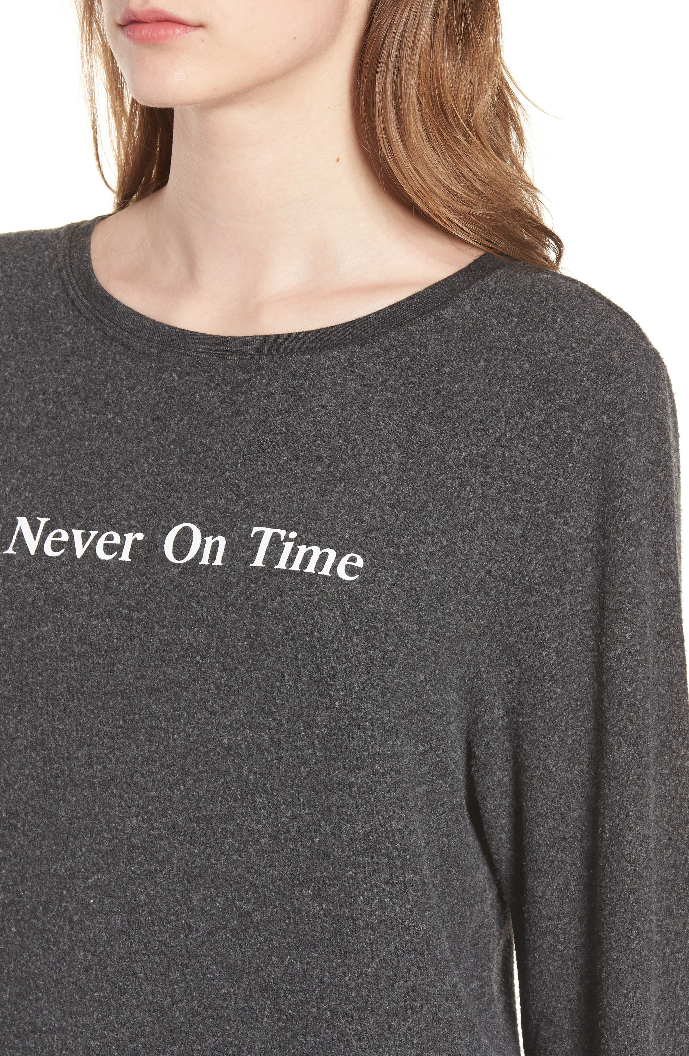 Never on Time Baggy Beach Jumper Pullover,                             Alternate thumbnail 4, color,                             001