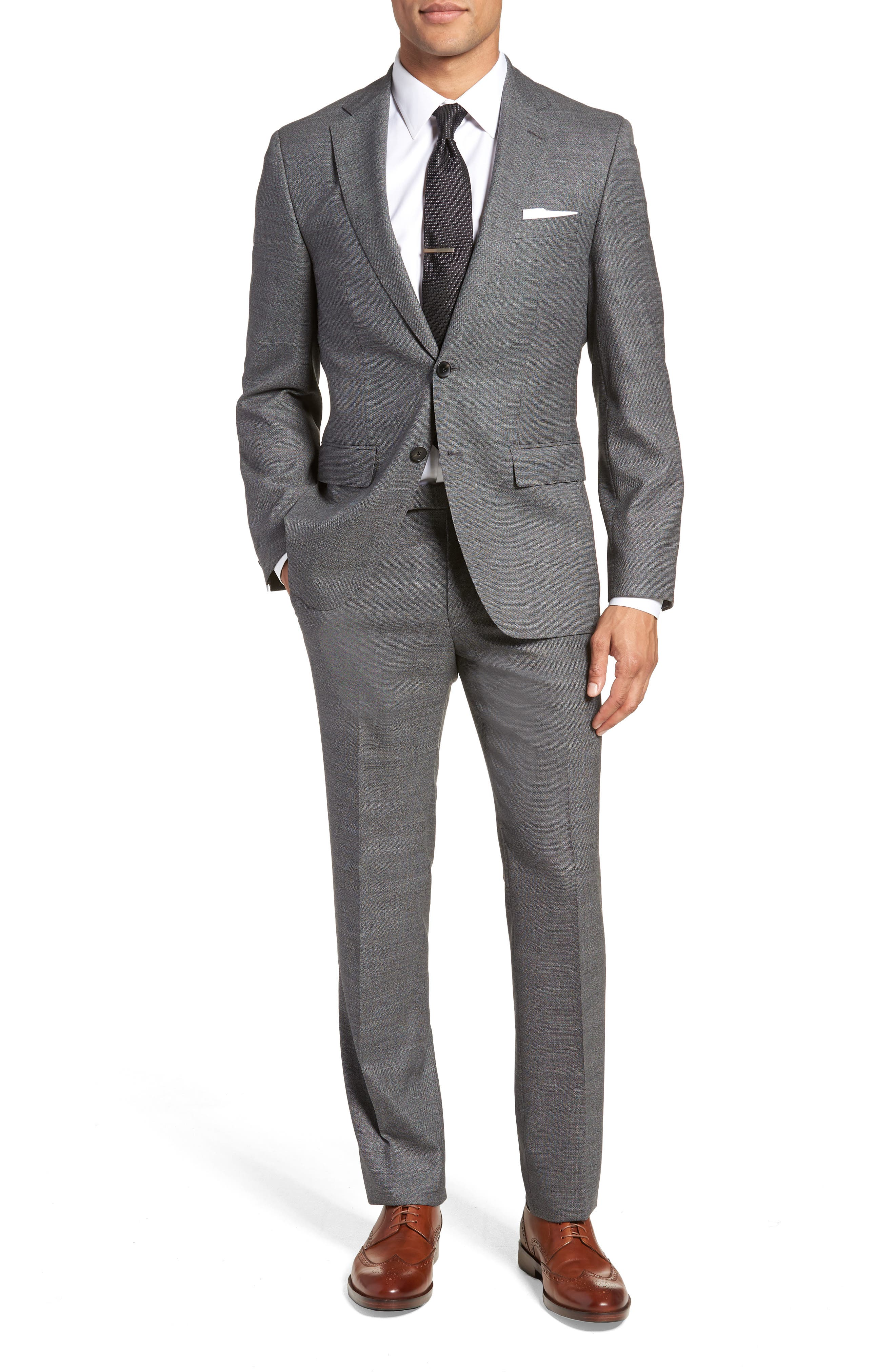 Johnstons/Lenon Classic Fit Solid Wool Suit,                         Main,                         color, 020
