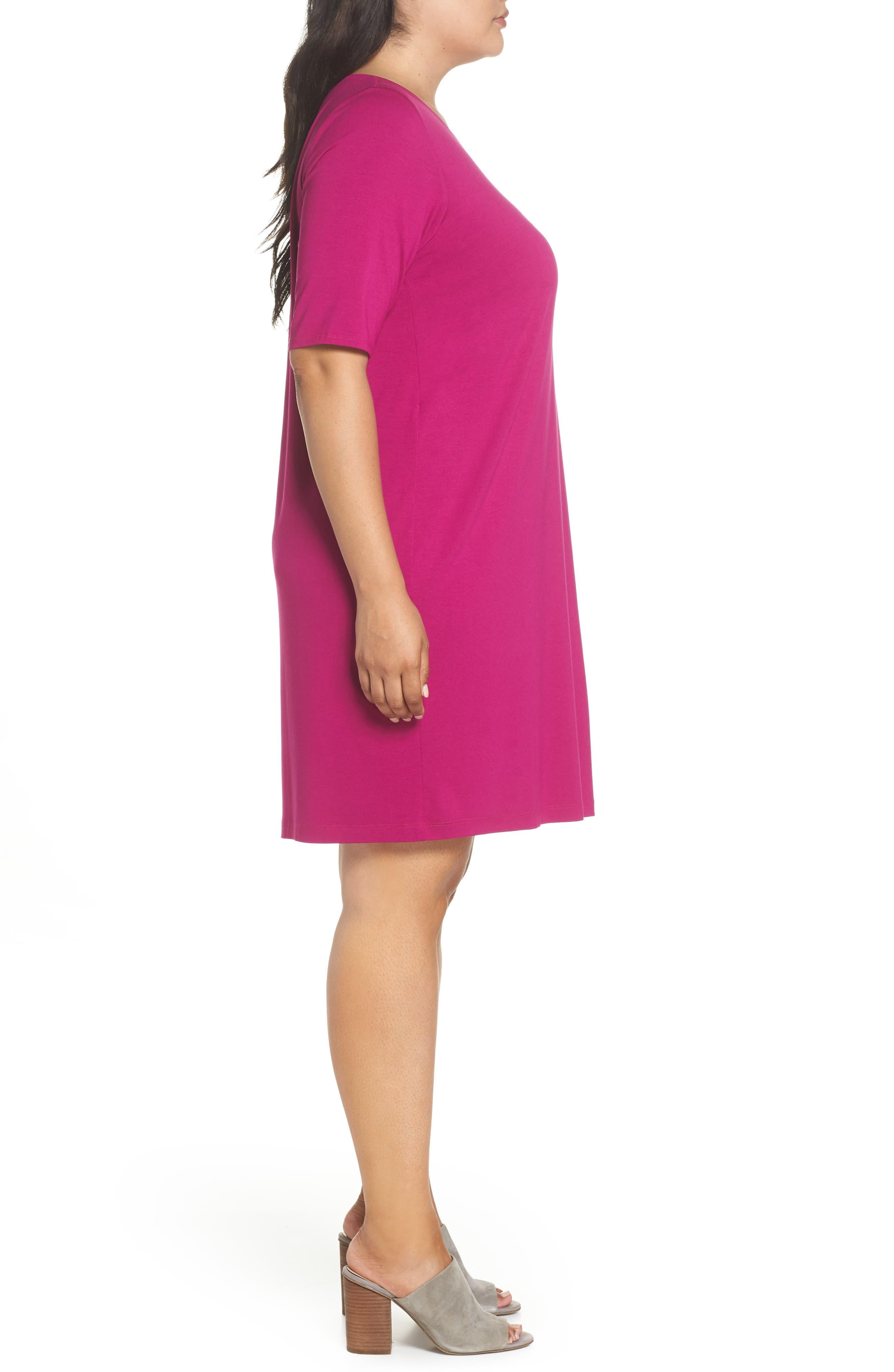 V-Neck Stretch Jersey Shift Dress,                             Alternate thumbnail 16, color,