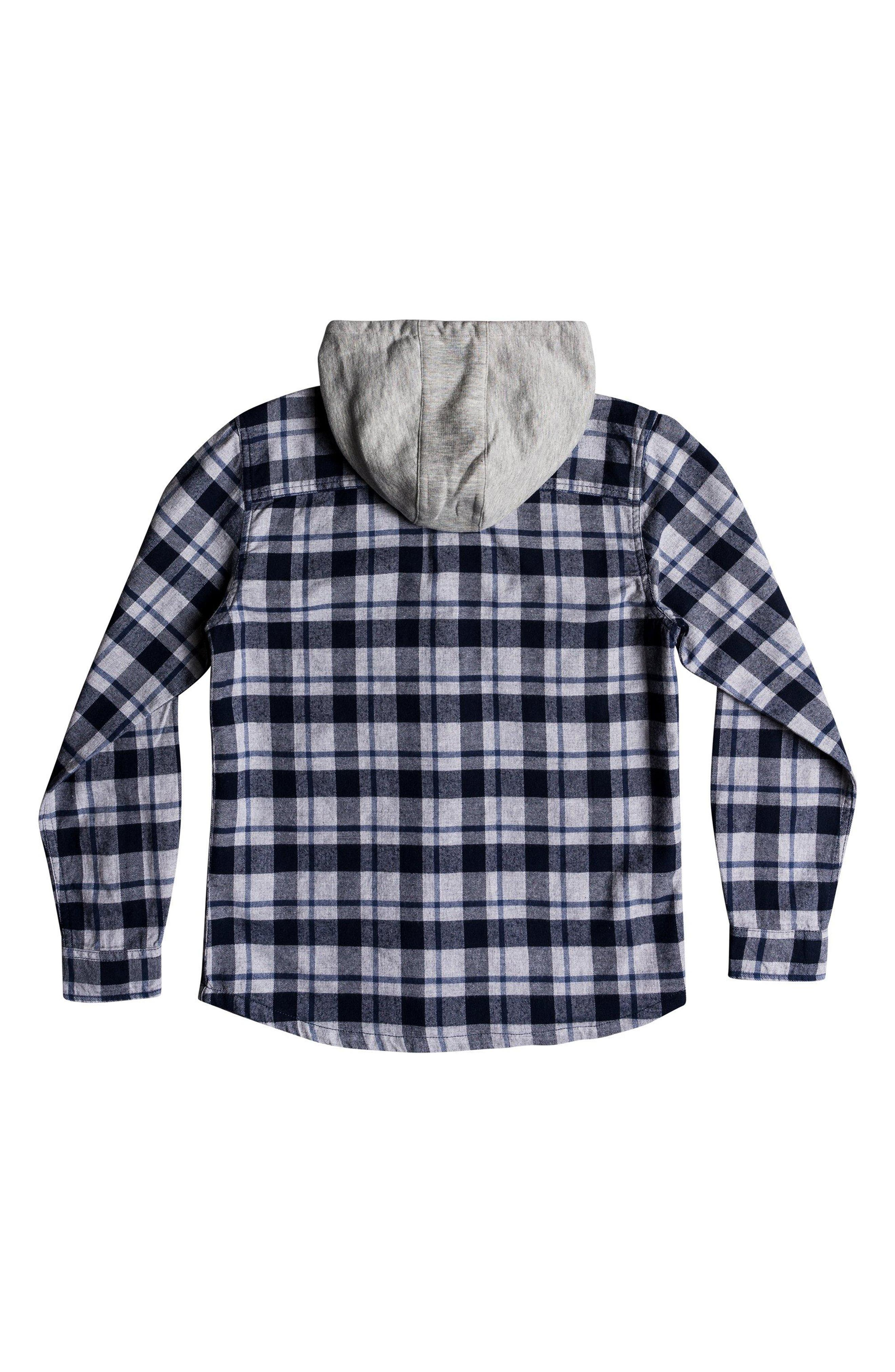Snap Up Flannel Hoodie,                             Alternate thumbnail 2, color,                             410