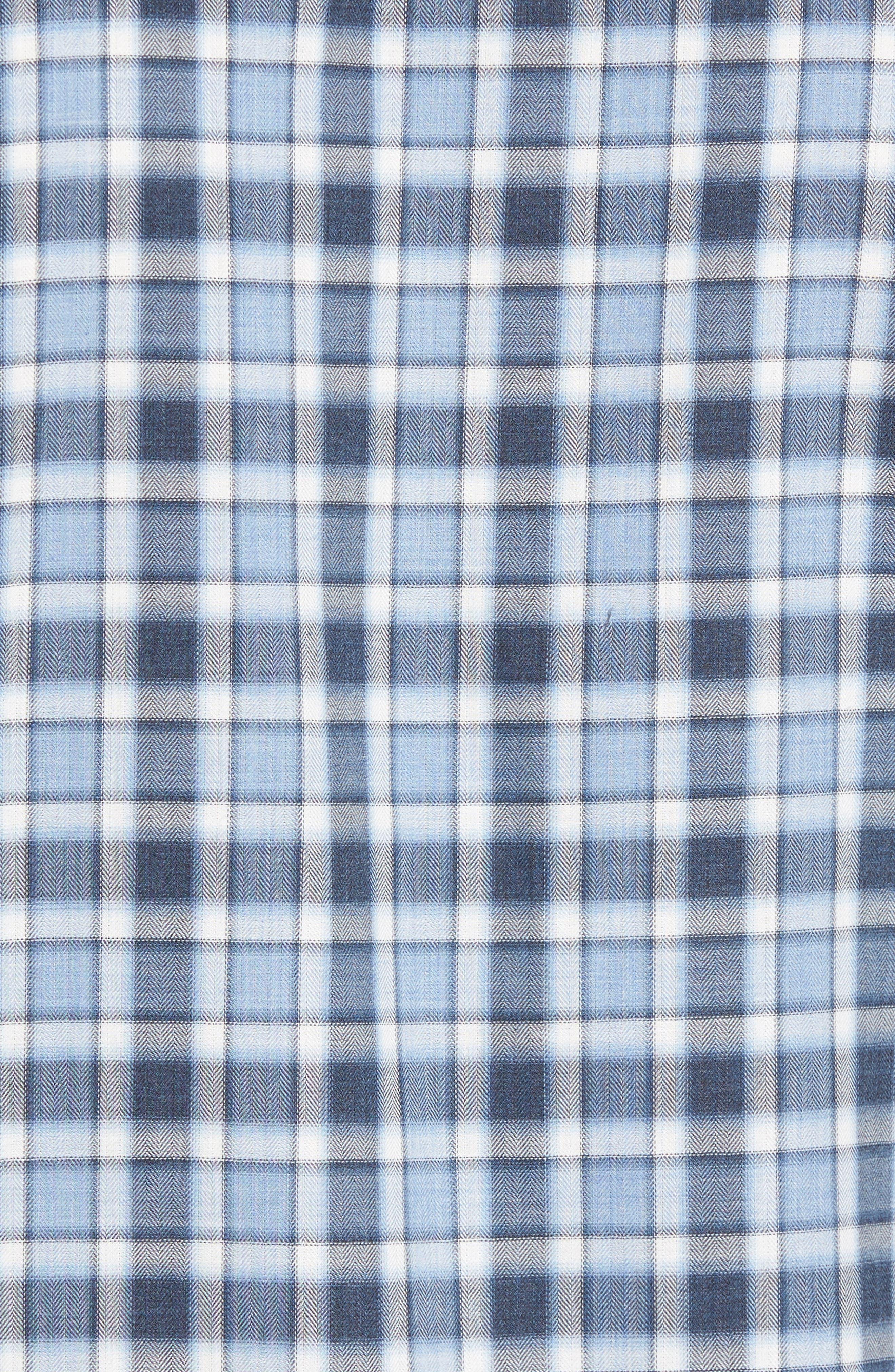 Lobban Slim Fit Check Sport Shirt,                             Alternate thumbnail 5, color,                             452