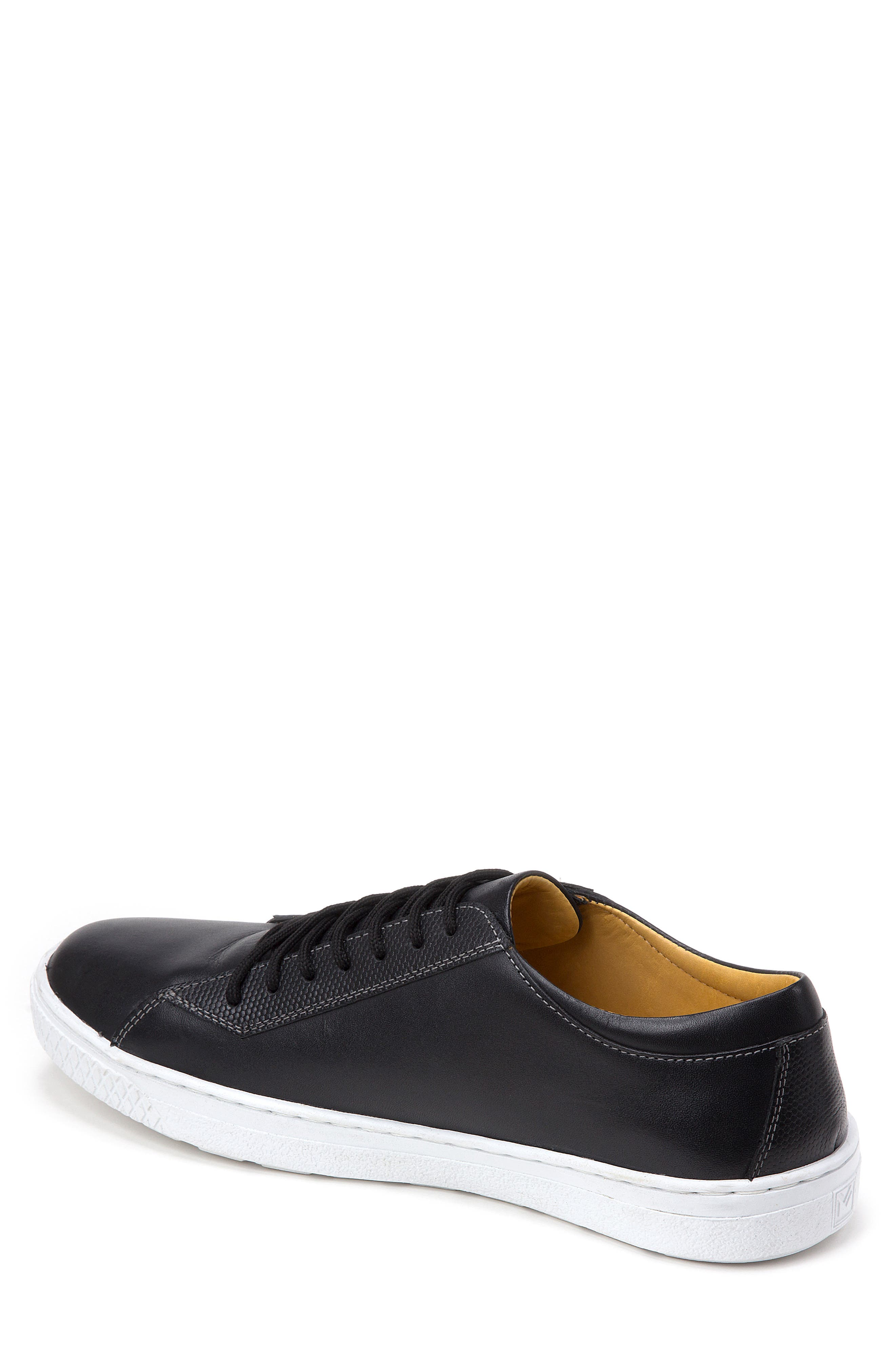 Minh Low Top Sneaker,                             Alternate thumbnail 2, color,                             BLACK LEATHER