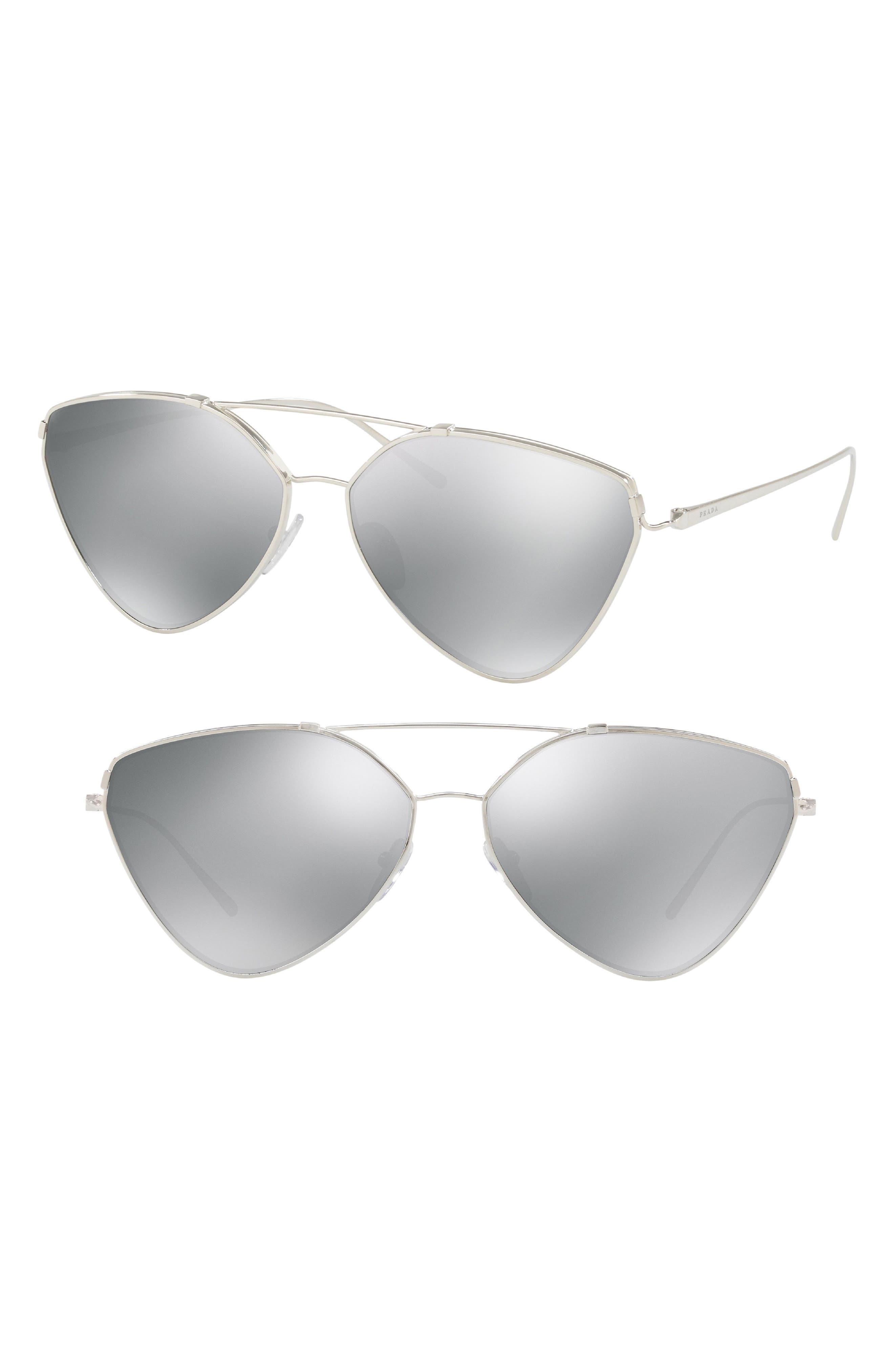 62mm Polarized Oversize Aviator Sunglasses,                             Alternate thumbnail 2, color,                             042