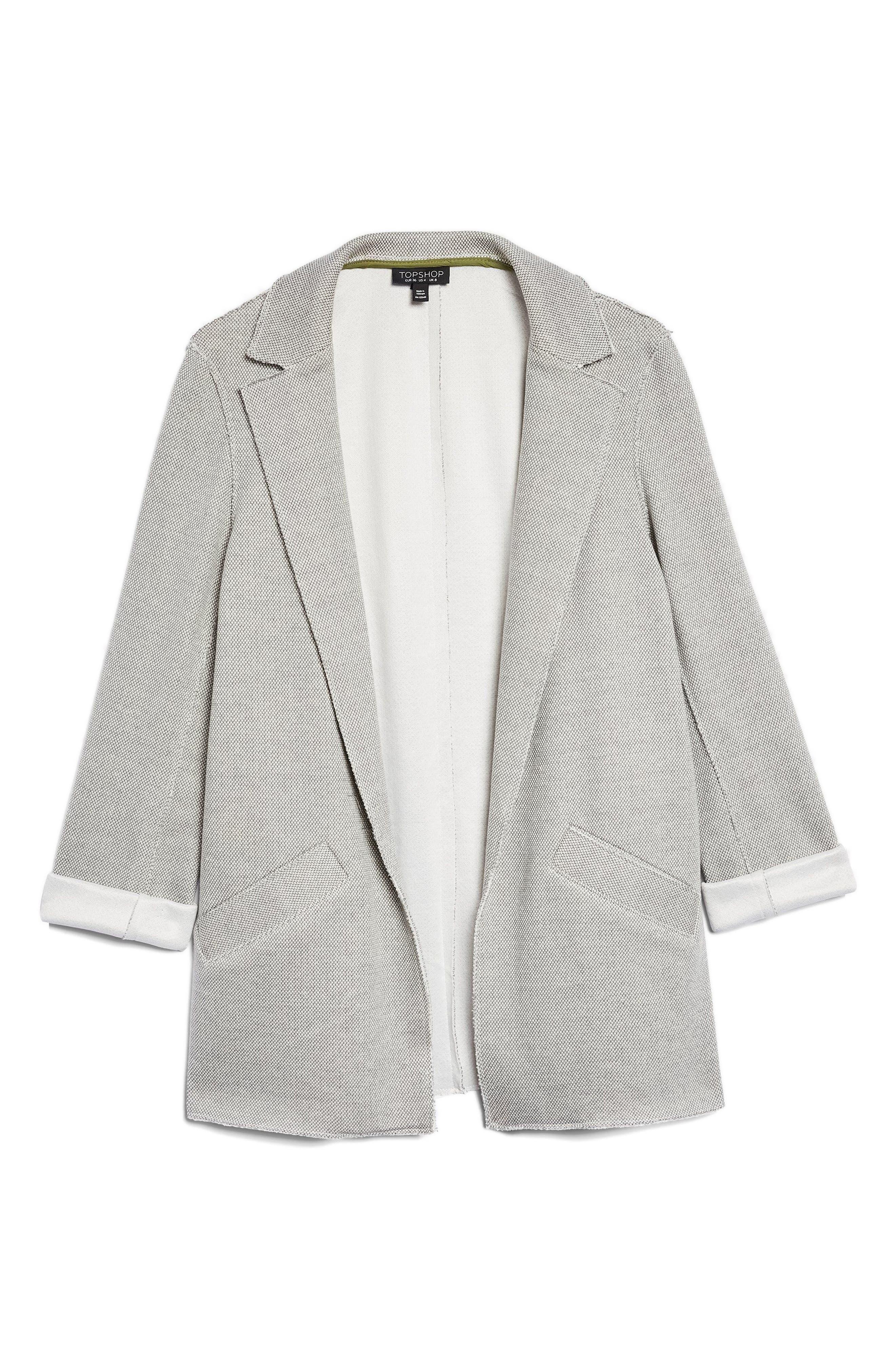 Deconcrusted Jersey Blazer,                             Alternate thumbnail 5, color,                             020