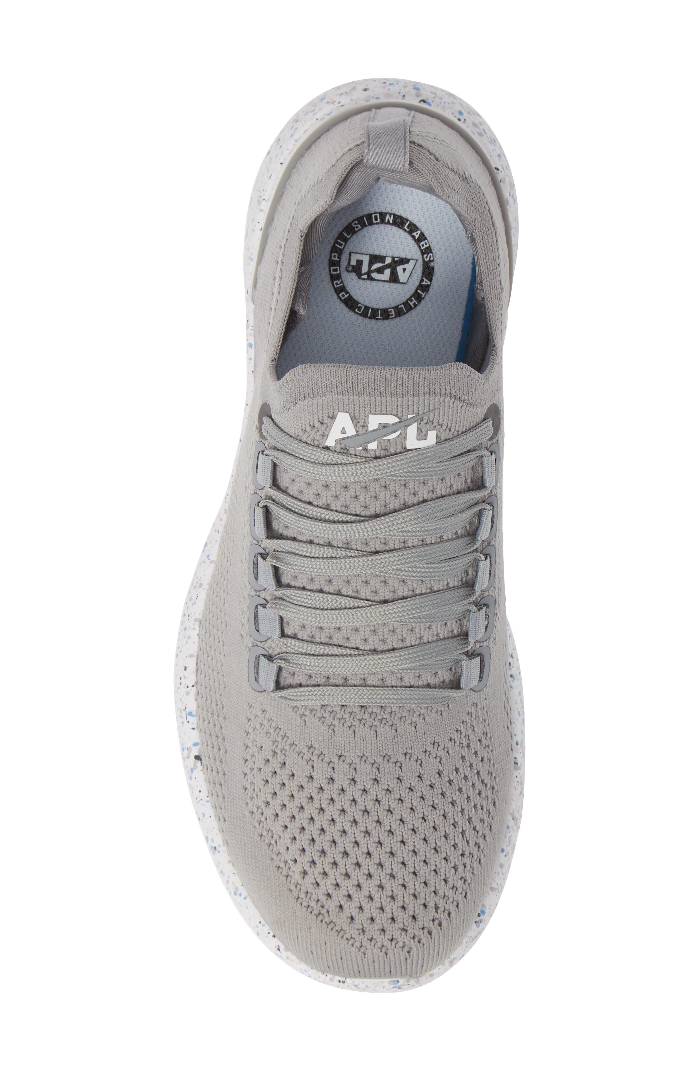 APL,                             Techloom Breeze Knit Running Shoe,                             Alternate thumbnail 5, color,                             CEMENT/ MULTI SPECKLE