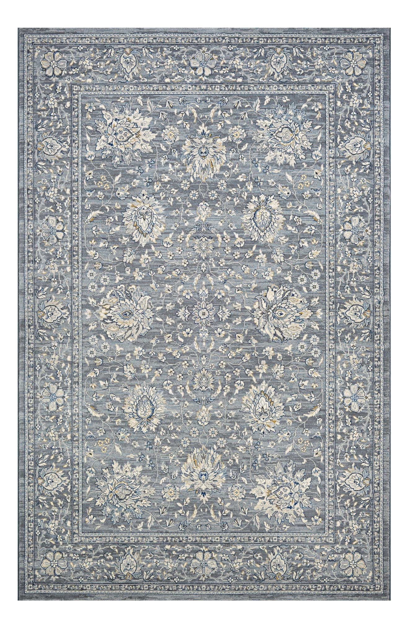 Persian Isfahn Rug,                             Main thumbnail 1, color,                             SLATE