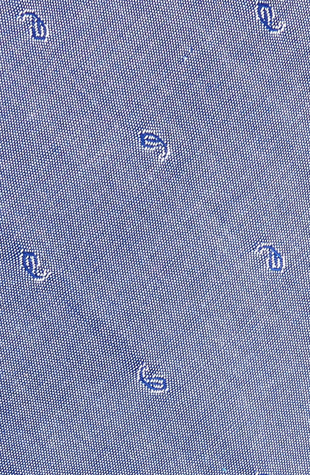 Indigo Pine Cotton Skinny Tie,                             Alternate thumbnail 2, color,