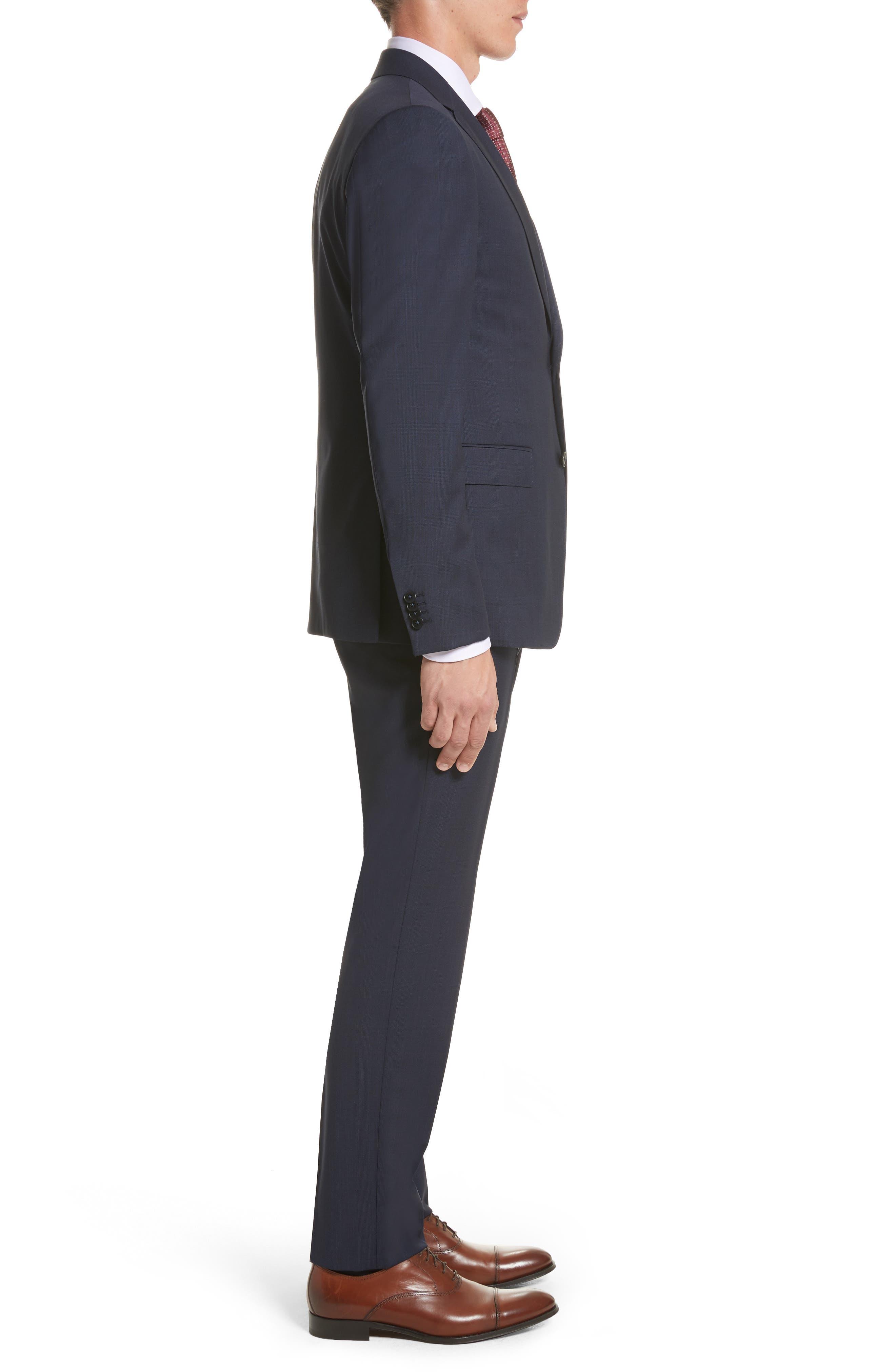 Classic Fit Check Wool Suit,                             Alternate thumbnail 3, color,                             416
