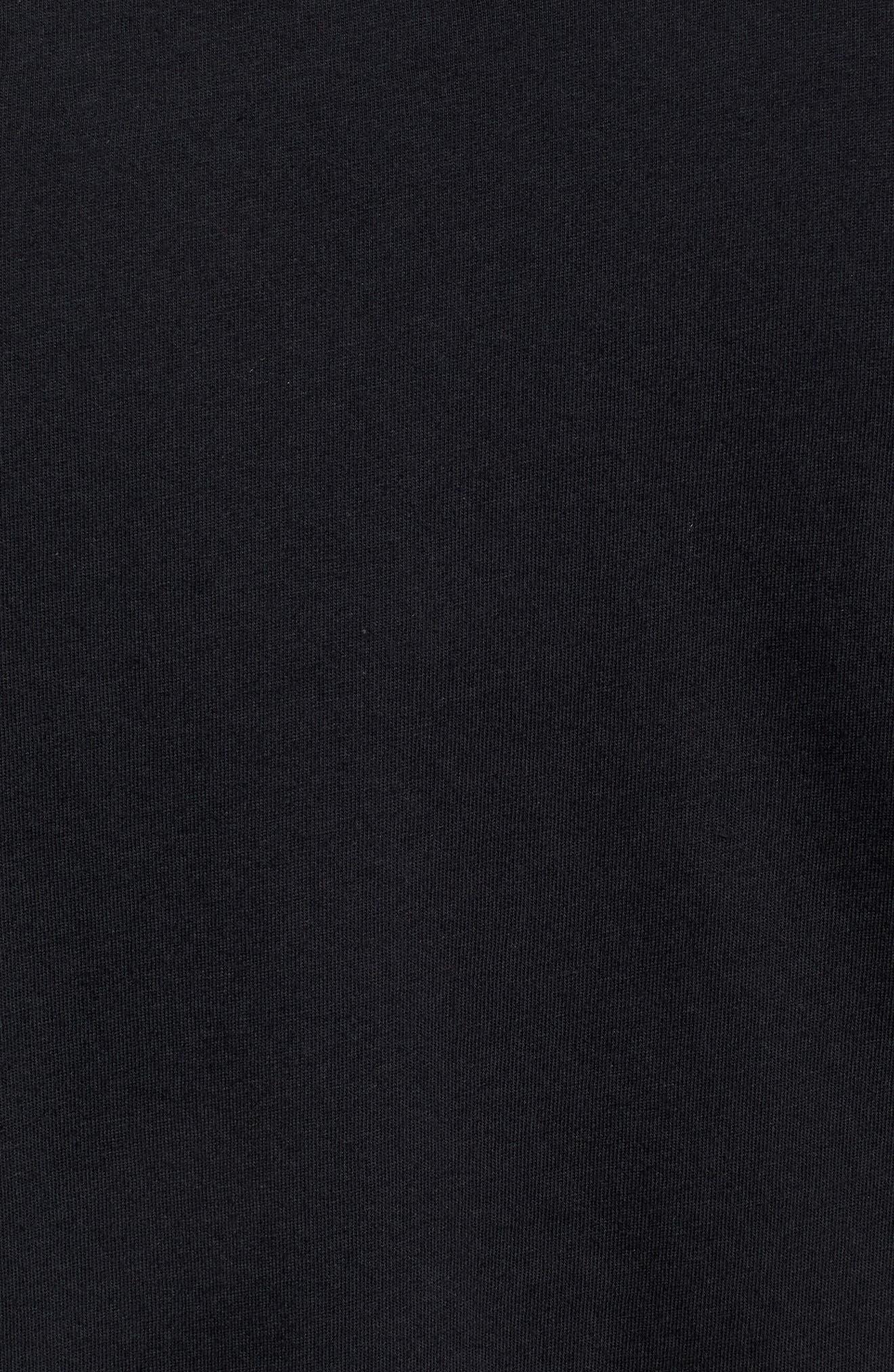 Tread Lightly Long Sleeve T-Shirt,                             Alternate thumbnail 5, color,                             BLACK