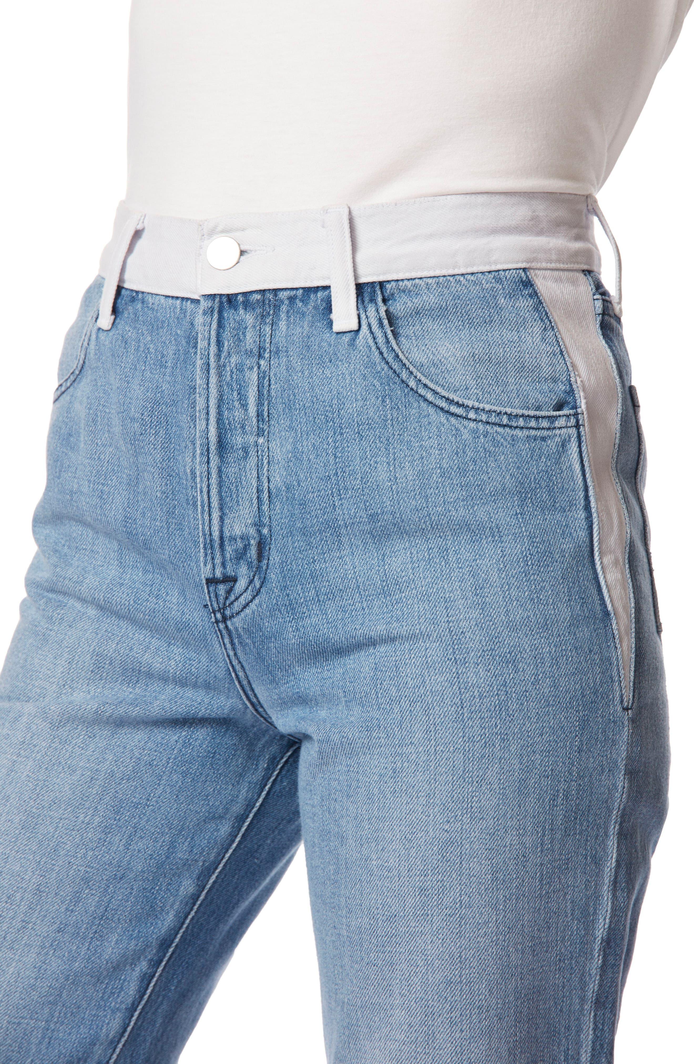 Wynne High Waist Crop Straight Leg Jeans,                             Alternate thumbnail 5, color,                             450